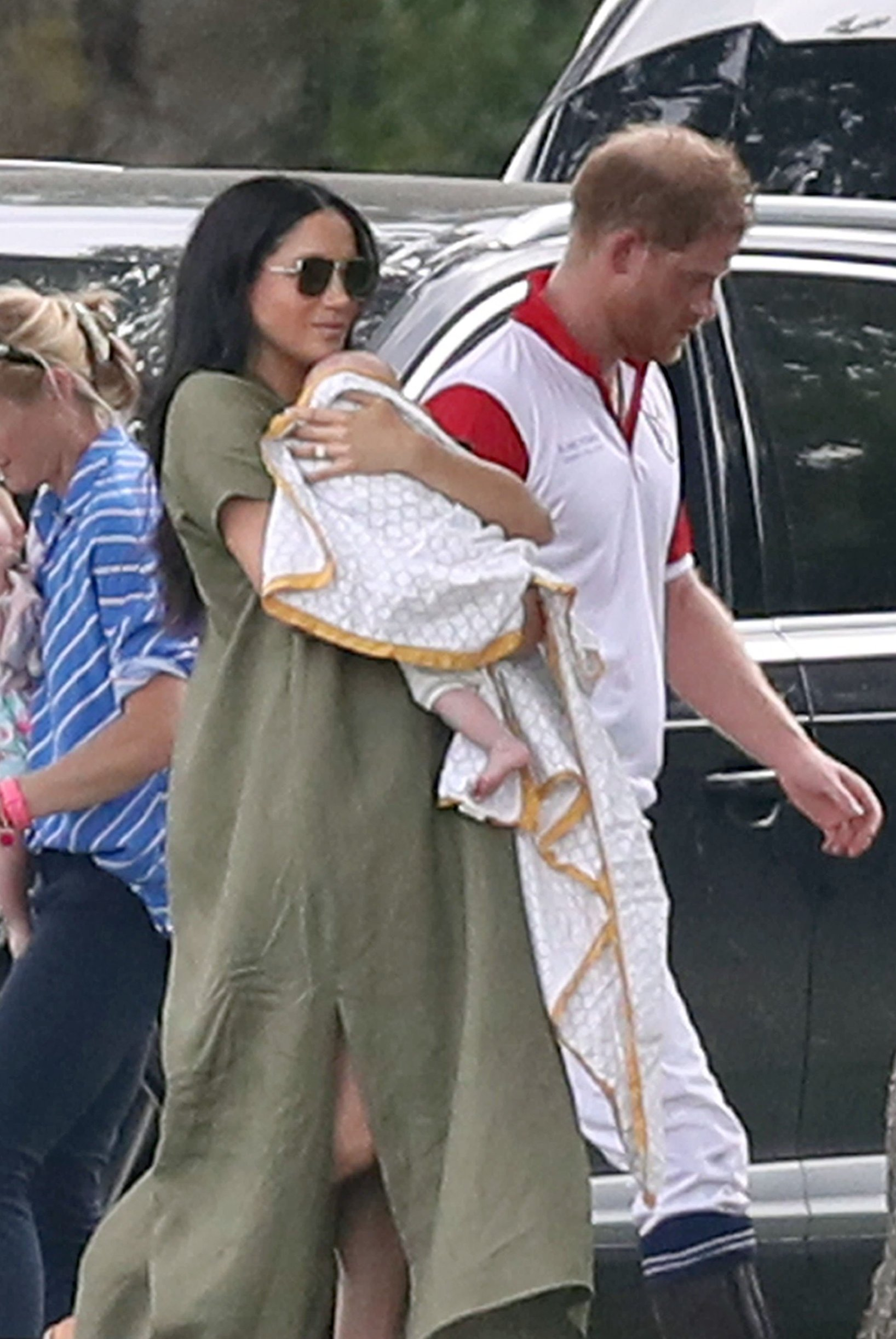 The Duke and Duchess of Sussex with their son Archie as they the King Power Royal Charity Polo Day at Billingbear Polo Club, Wokingham, Berkshire., Image: 456794669, License: Rights-managed, Restrictions: , Model Release: no, Credit line: Profimedia, Press Association