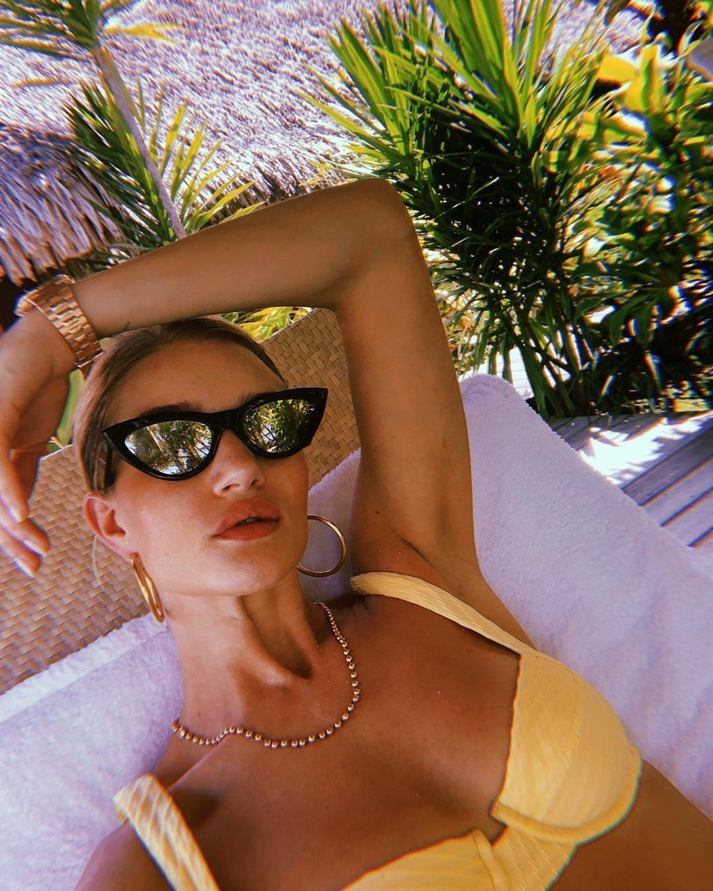 Rosie Huntington-Whiteley releases a photo on Instagram with the following caption: