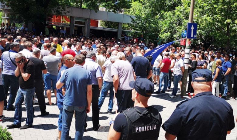 Prosvjed ispred središta HDZ-a