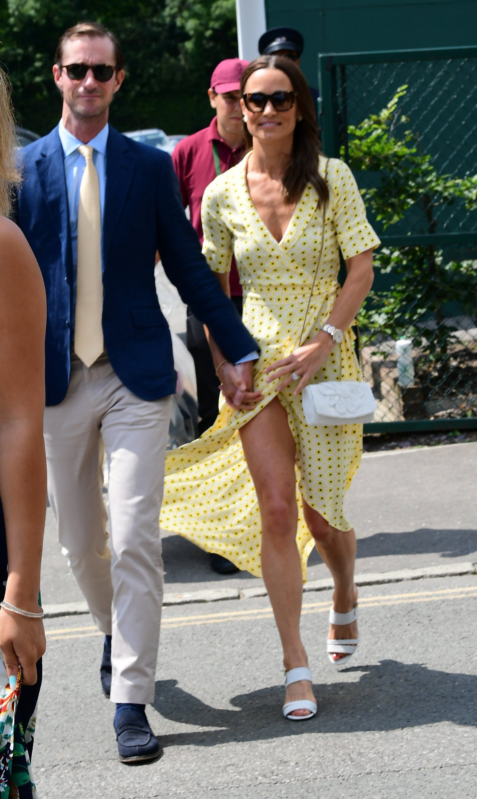 12 July 2019.  Pippa Middleton & James Matthews arrive at wimbledon Tennis   Pictured: Pippa Middleton, James Matthews, Image: 457881230, License: Rights-managed, Restrictions: , Model Release: no, Credit line: Profimedia, Goff Photos