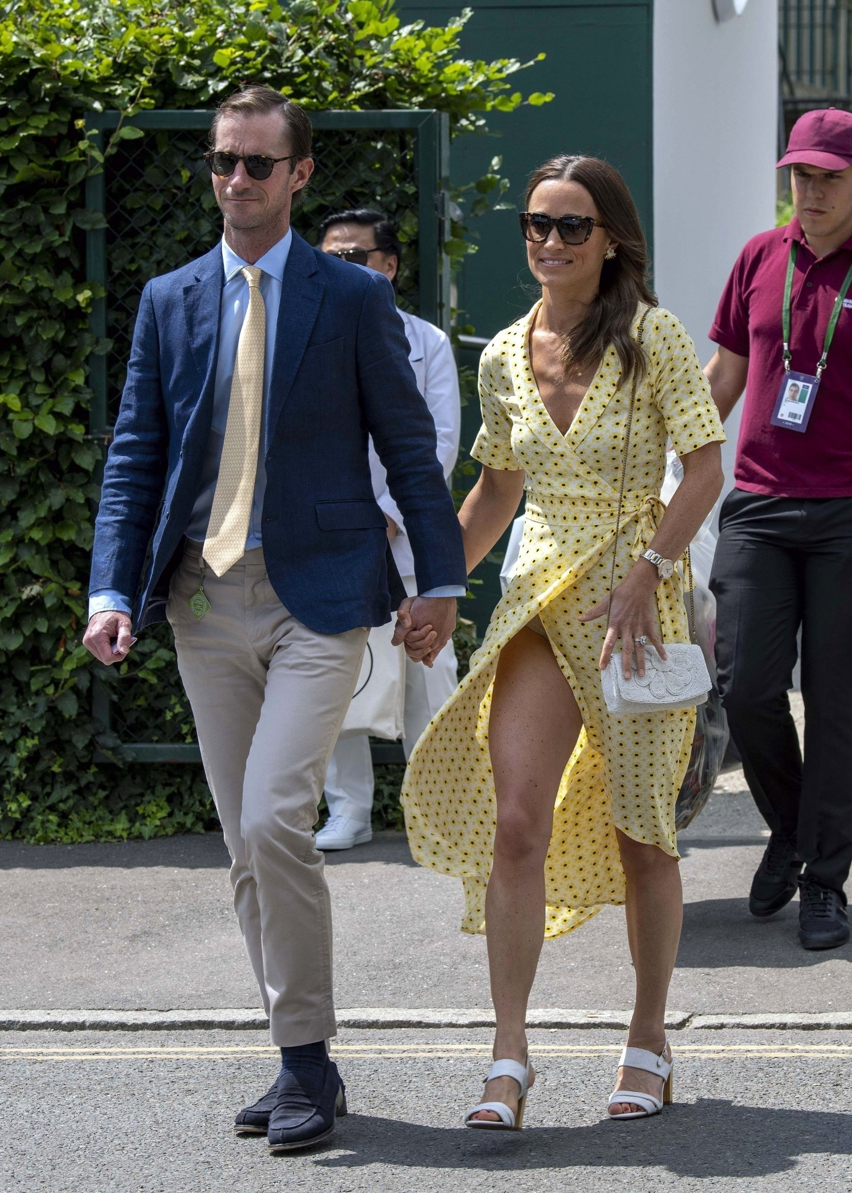London, UNITED KINGDOM  -  Pippa Matthews (Middleton) and James Matthews arrive at the 2019 Wimbledon Lawn Tennis Championships.  *UK Clients - Pictures Containing Children Please Pixelate Face Prior To Publication*, Image: 457927991, License: Rights-managed, Restrictions: , Model Release: no, Credit line: Profimedia, Backgrid UK
