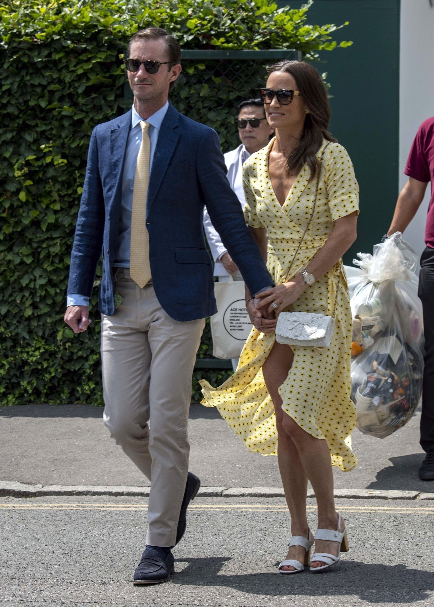 London, UNITED KINGDOM  -  Pippa Matthews (Middleton) and James Matthews arrive at the 2019 Wimbledon Lawn Tennis Championships.  *UK Clients - Pictures Containing Children Please Pixelate Face Prior To Publication*, Image: 457927951, License: Rights-managed, Restrictions: , Model Release: no, Credit line: Profimedia, Backgrid UK
