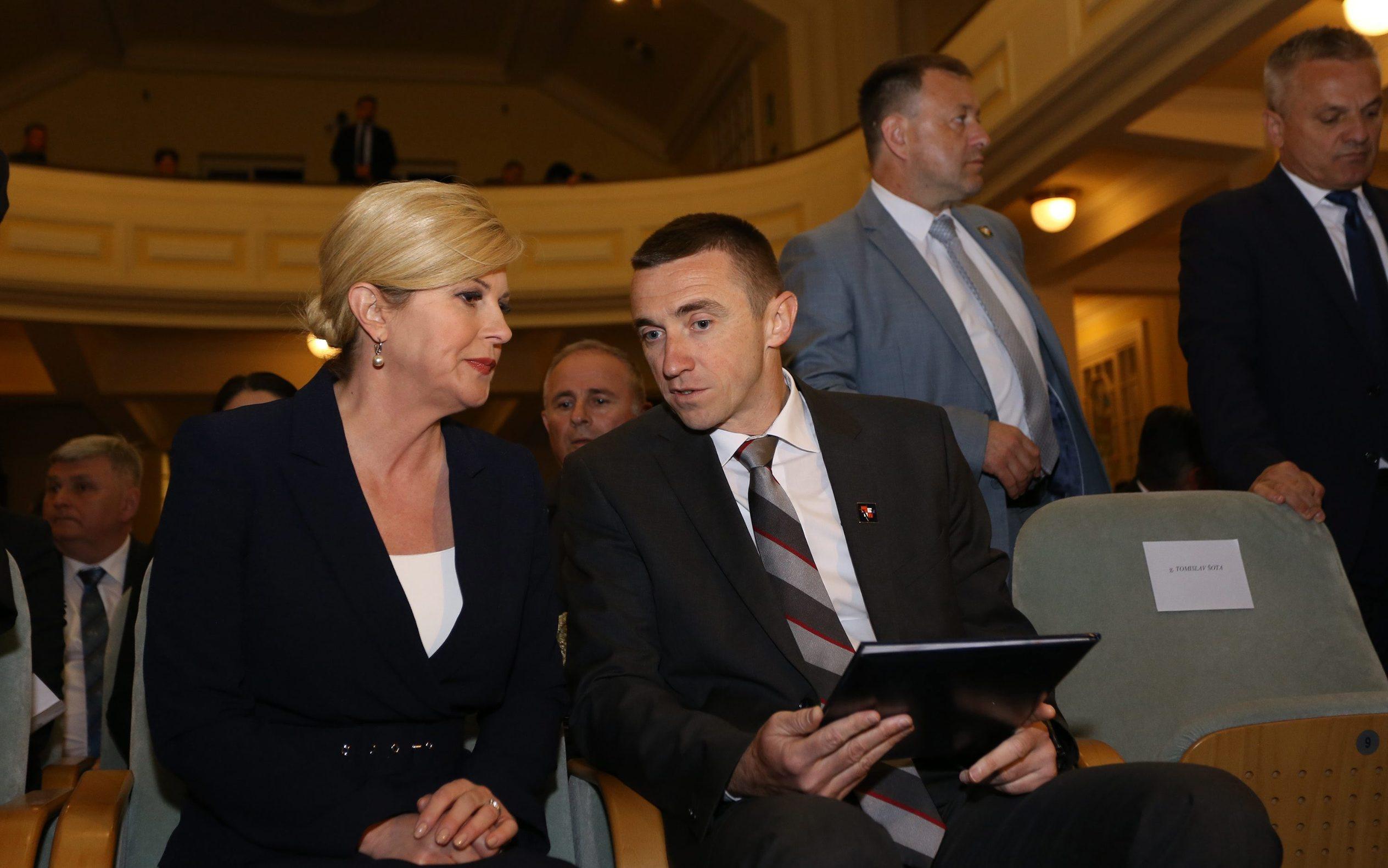 Kolinda Grabar Kitarović i Ivan Penava