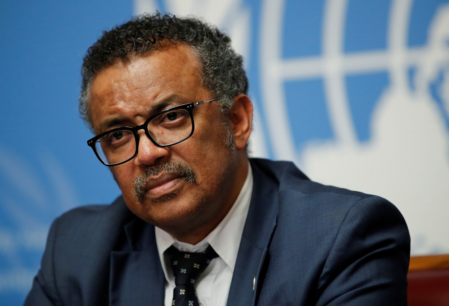 Director-General of the World Health Organization (WHO) Tedros Adhanom Ghebreyesus attends a news conference after an Emergency Committee meeting on the Ebola outbreak in the Democratic Republic of Congo, and two days before the start of the WHO's annual World Health Assembly at the United Nations in Geneva, Switzerland, May 18, 2018.  REUTERS/Denis Balibouse - RC1A316D15C0