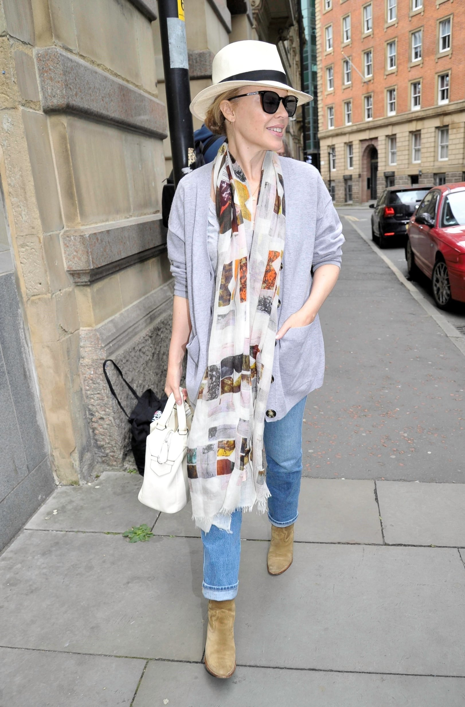 Manchester, UNITED KINGDOM  - Kylie Minogue pictured leaving hotel in Manchester, as she continues her tour and heads to Scotland.  BACKGRID UK 13 JULY 2019, Image: 458161957, License: Rights-managed, Restrictions: , Model Release: no, Credit line: Profimedia, Backgrid UK