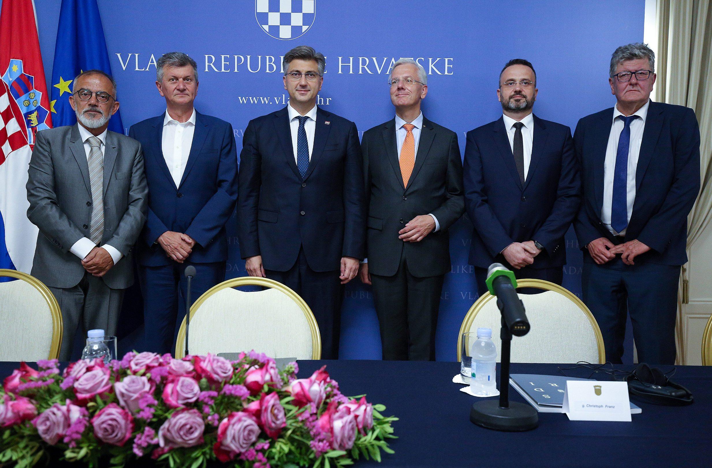 Milorad Gošev, Milan Kujundžić, Andrej Plenković, Christoph Franz, Dražen Jeleč
