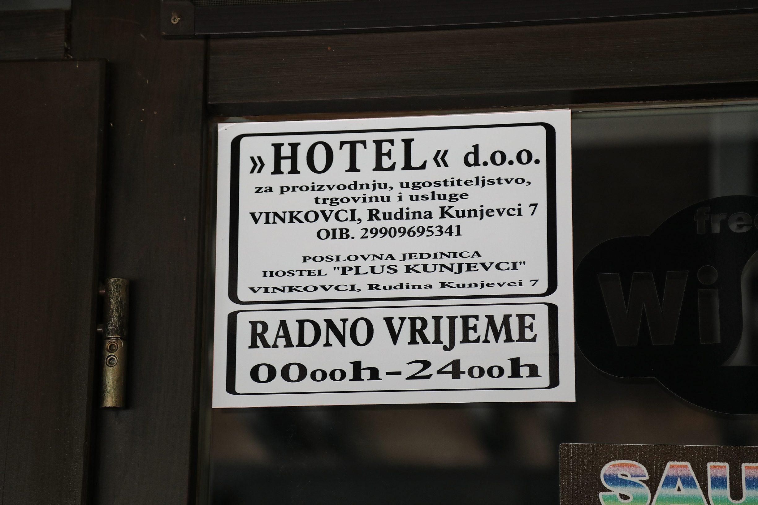 Vinkovci, 190719. U hotelu Kunjevci kod Vinkovca, doslo je do fizickog ,a kasnije i oruzanog obracuna u kojem je zivot izgubio mladic iz Otoka  Na fotografiji: Hotel Kunjevci. Foto: Ivan Peric / CROPIX