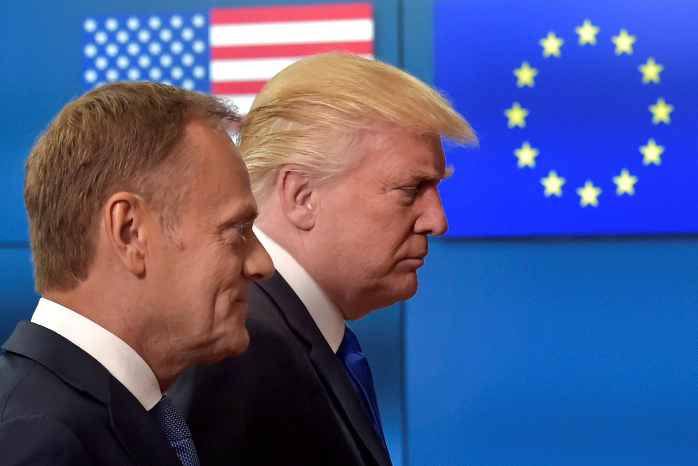 Američki predsjednik Donald Trump i predsjednik Europskog vijeća Donald Tusk