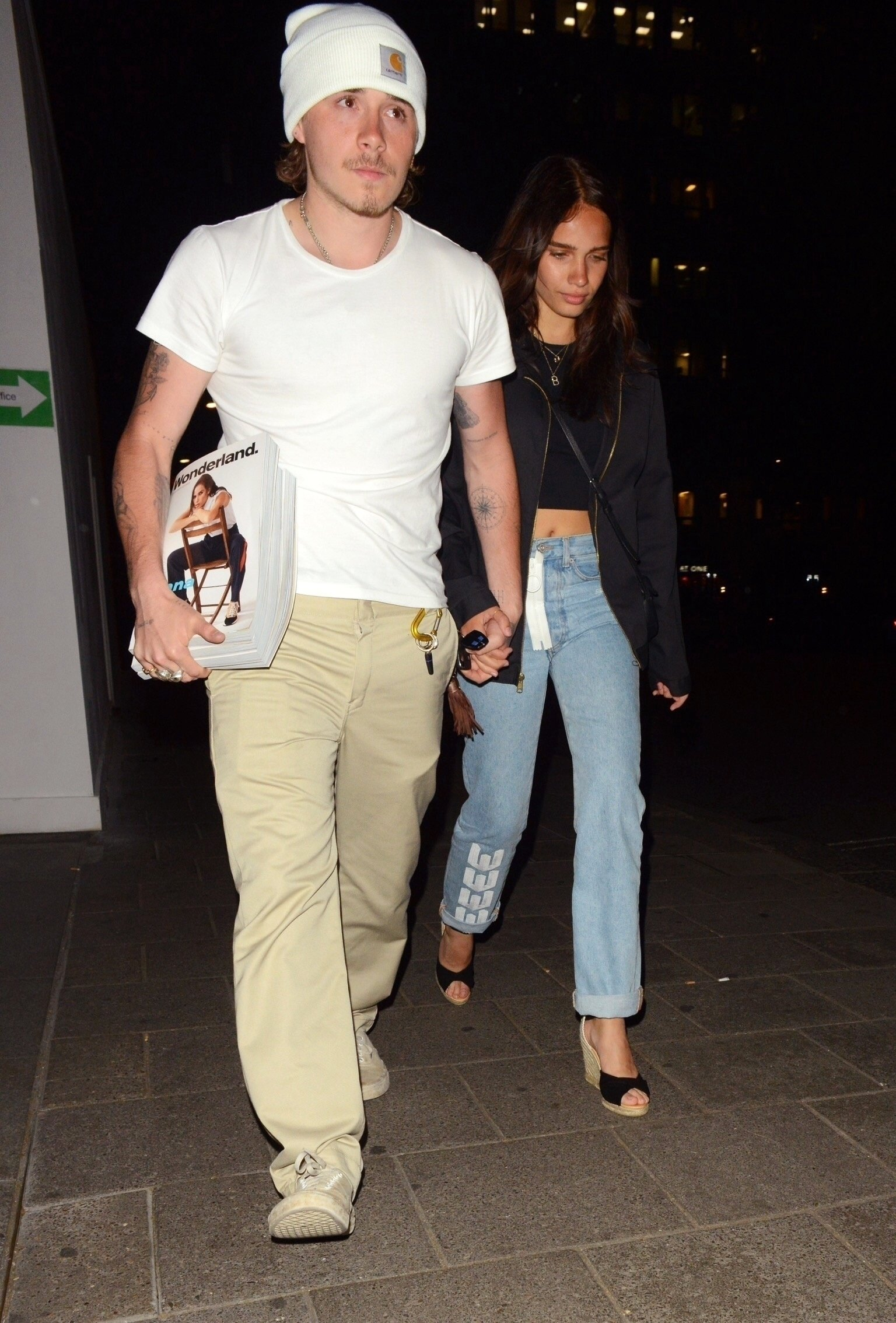 London, UNITED KINGDOM  - Brooklyn Beckham and Hana Cross at Sexy Fish restaurant for the launch of Wonderland Magazine's Summer 2019 issue  *UK Clients - Pictures Containing Children Please Pixelate Face Prior To Publication*, Image: 453378488, License: Rights-managed, Restrictions: , Model Release: no, Credit line: Profimedia, Backgrid UK