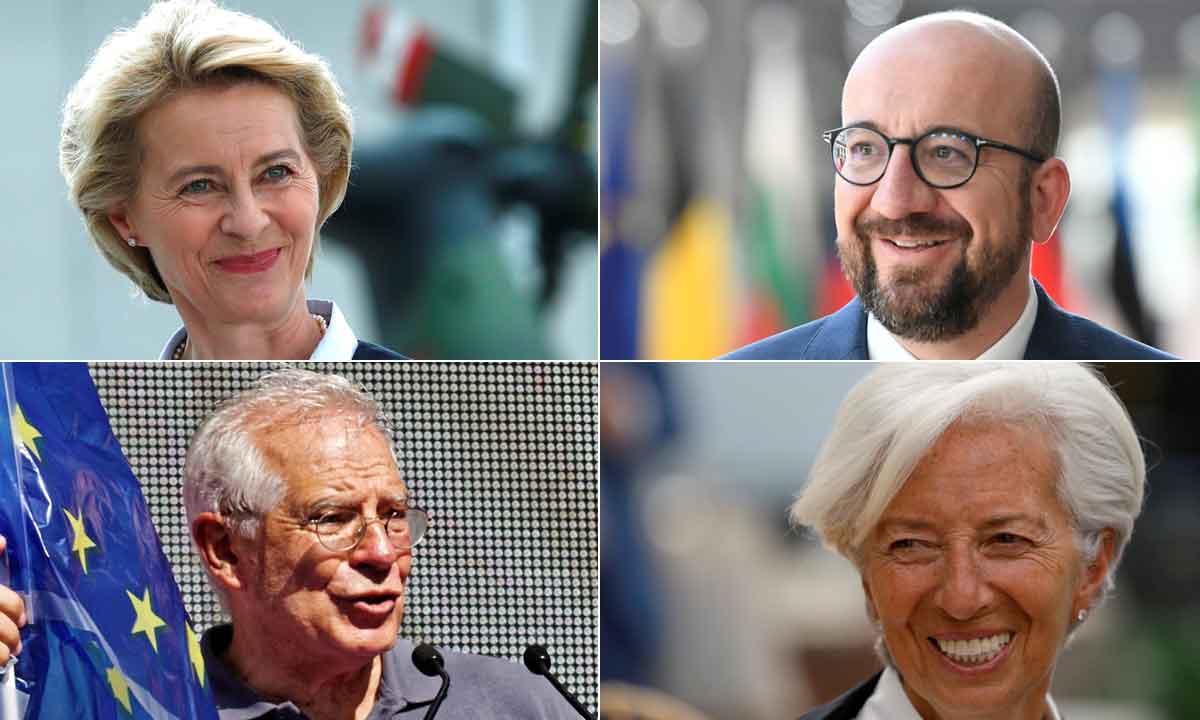 Ursula von der Leyen, Charles Michel, Josep Borell, Christine Lagarde