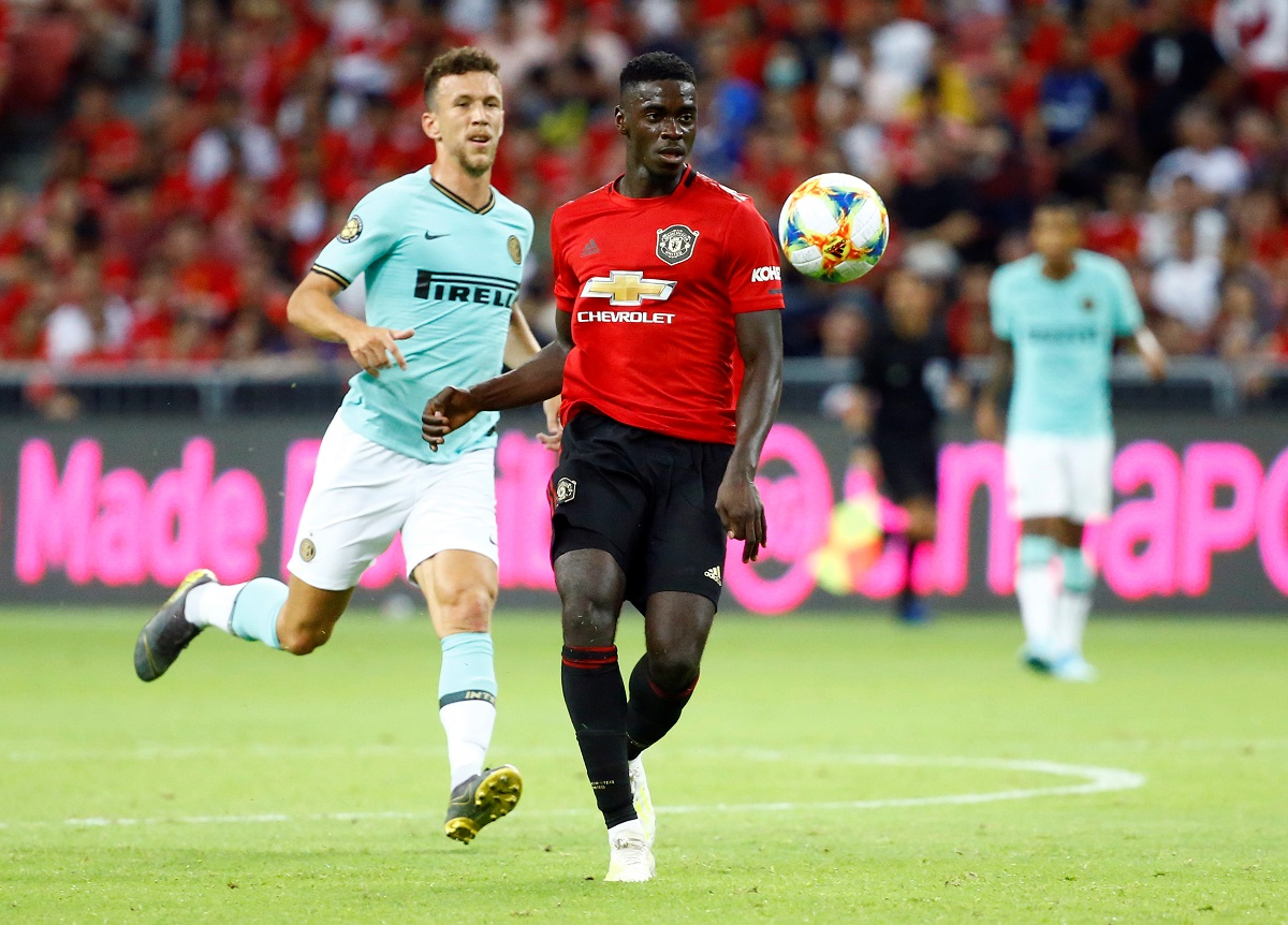Soccer Football - International Champions Cup - Manchester United v Inter Milan - Singapore National Stadium, Singapore - July 20, 2019   Manchester United's Axel Tuanzebe in action   REUTERS/Feline Lim