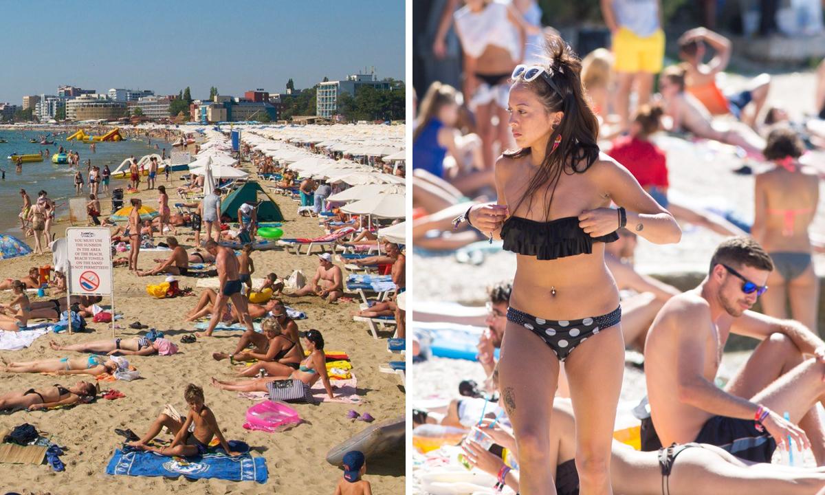 Sunny Beach u Bugarskoj (lijevo), Štinjan (desno)