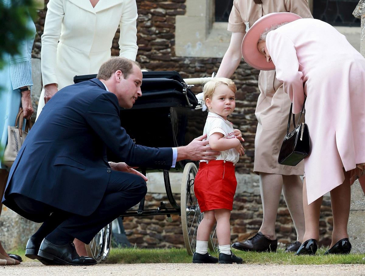 Princ George i kraljica Elizabeta II.