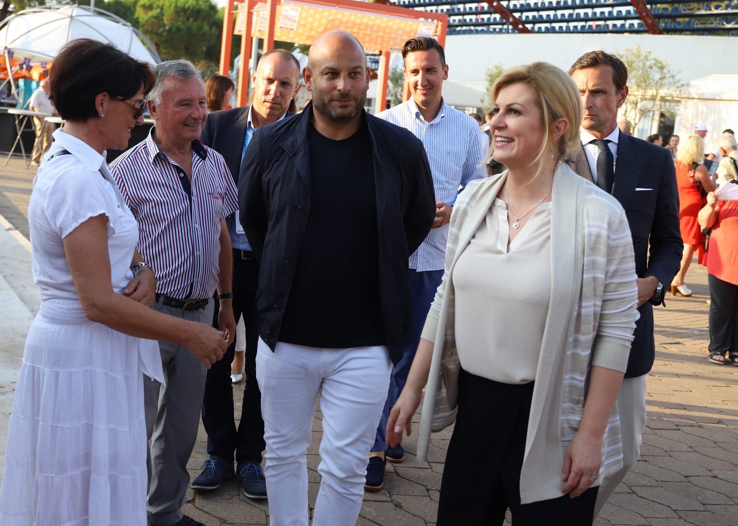 Darko Lukšić i predsjednica Grabar-Kitarović
