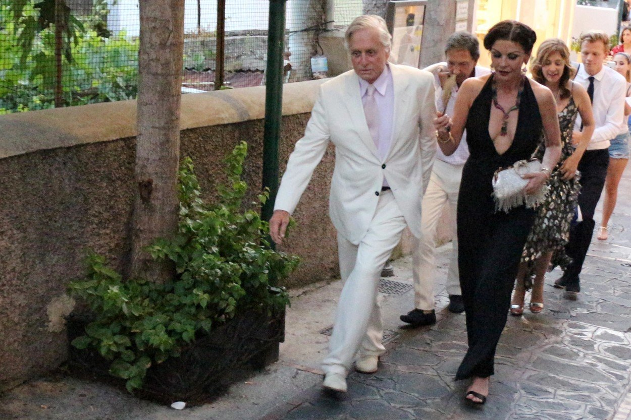 CAPRI, ITALY  - *PREMIUM-EXCLUSIVE*  - *MUST CALL FOR PRICING* *NO MAIL ONLINE*  Michael Douglas, Catherine Zeta Jones and Sarah Ferguson attend Lawrence Stroll's 60th Birthday party on July 20, 2019 in Capri, Italy.  *UK Clients - Pictures Containing Children Please Pixelate Face Prior To Publication*, Image: 460017943, License: Rights-managed, Restrictions: RIGHTS: WORLDWIDE EXCEPT IN FRANCE, GERMANY, ITALY, SWITZERLAND, Model Release: no, Credit line: Profimedia, Backgrid UK