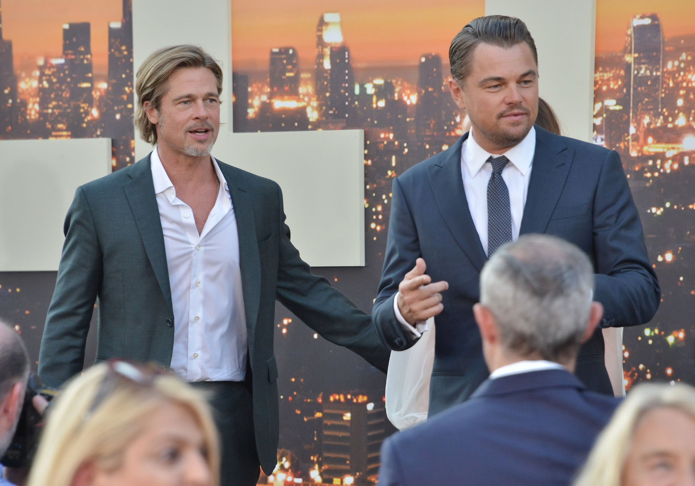 (L-R) Brad Pitt and Leonardo DiCaprio at the ONCE UPON A TIME...IN HOLLYWOOD World Premiere held at the TCL Chinese Theatre in Hollywood, CA on Monday, July 22, 2019., Image: 460250373, License: Rights-managed, Restrictions: *** World Rights ***, Model Release: no, Credit line: Profimedia, ddp USA