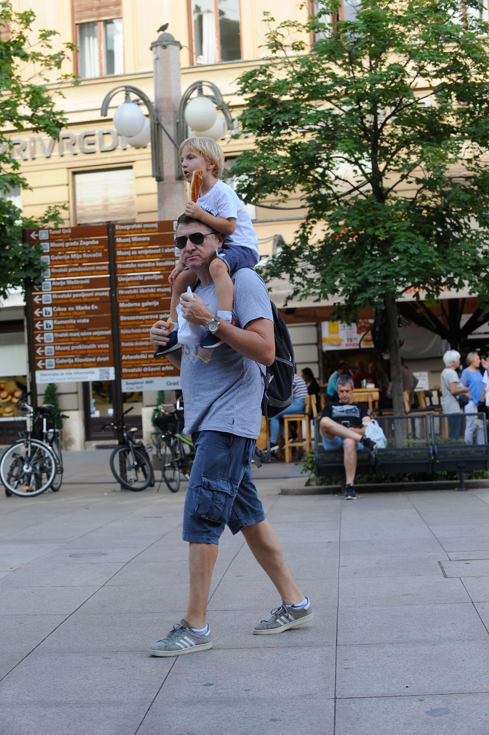 Spica / Zagreb 11.07.2019. / foto: Davor Matota / Hrvoje Salkovic i sin Ivan Marat