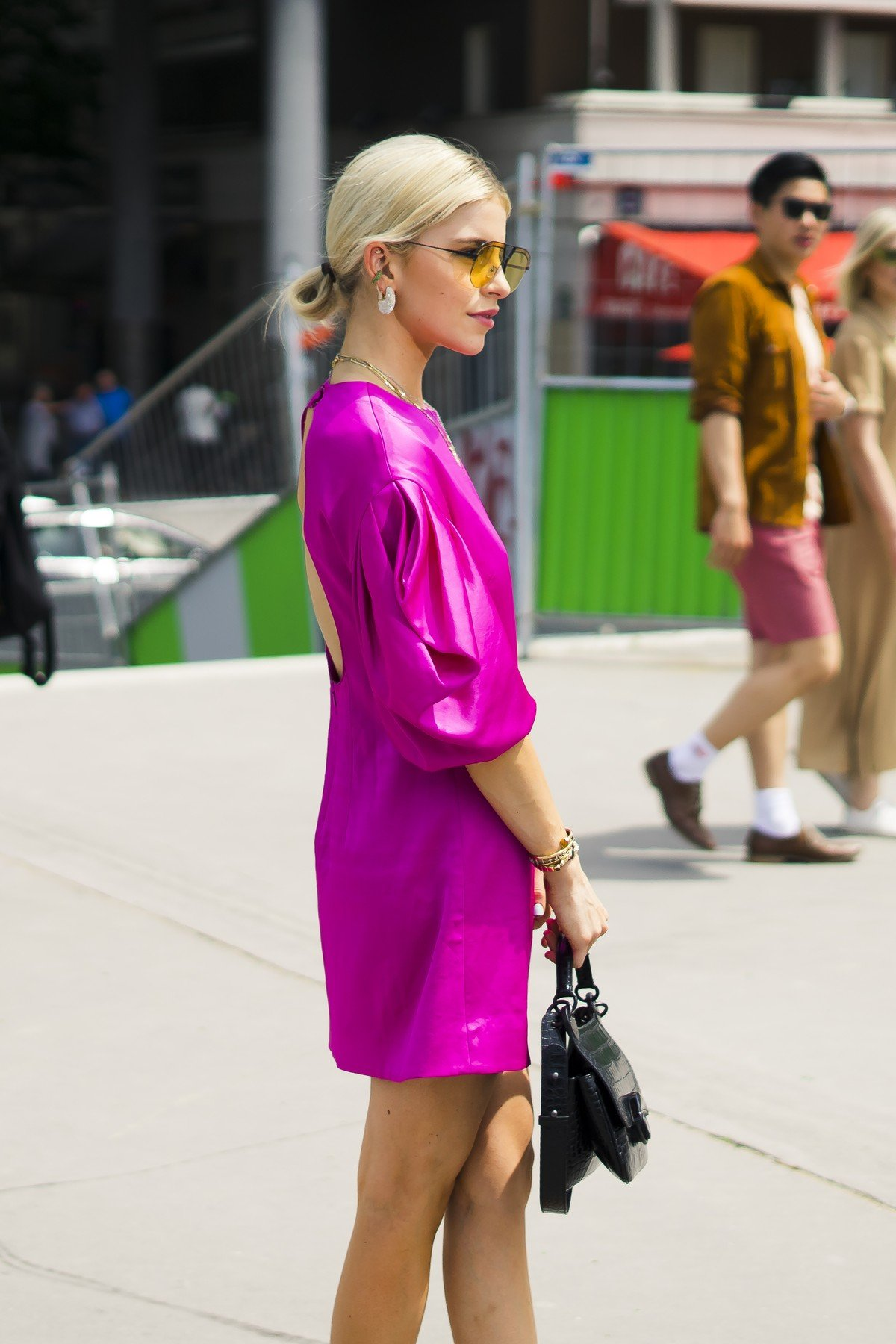 June 23, 2019 - Paris, France - A guest is seen during the Street Style : Paris Fashion Week - Menswear Spring/Summer 2020 : Day 6 At Kenzo fashion show, on June 23, 2019, in Paris, France., Image: 451288918, License: Rights-managed, Restrictions: * France Rights OUT *, Model Release: no, Credit line: Profimedia, Zuma Press