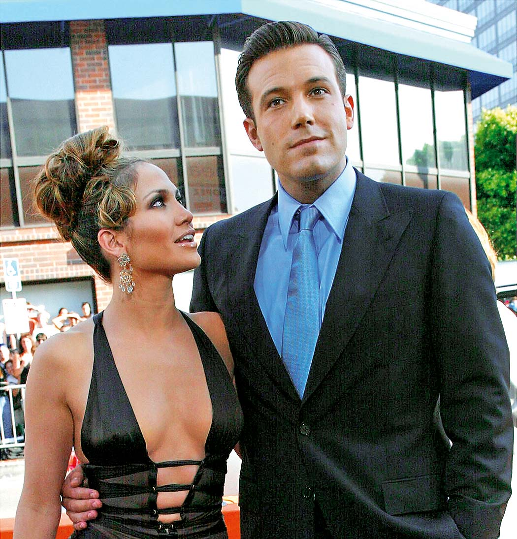 WESTWOOD, CA - JULY 27:  (FILE PHOTO) Actors Ben Affleck and Jennifer Lopez attend the premiere of Revolution Studios' and Columbia Pictures' film