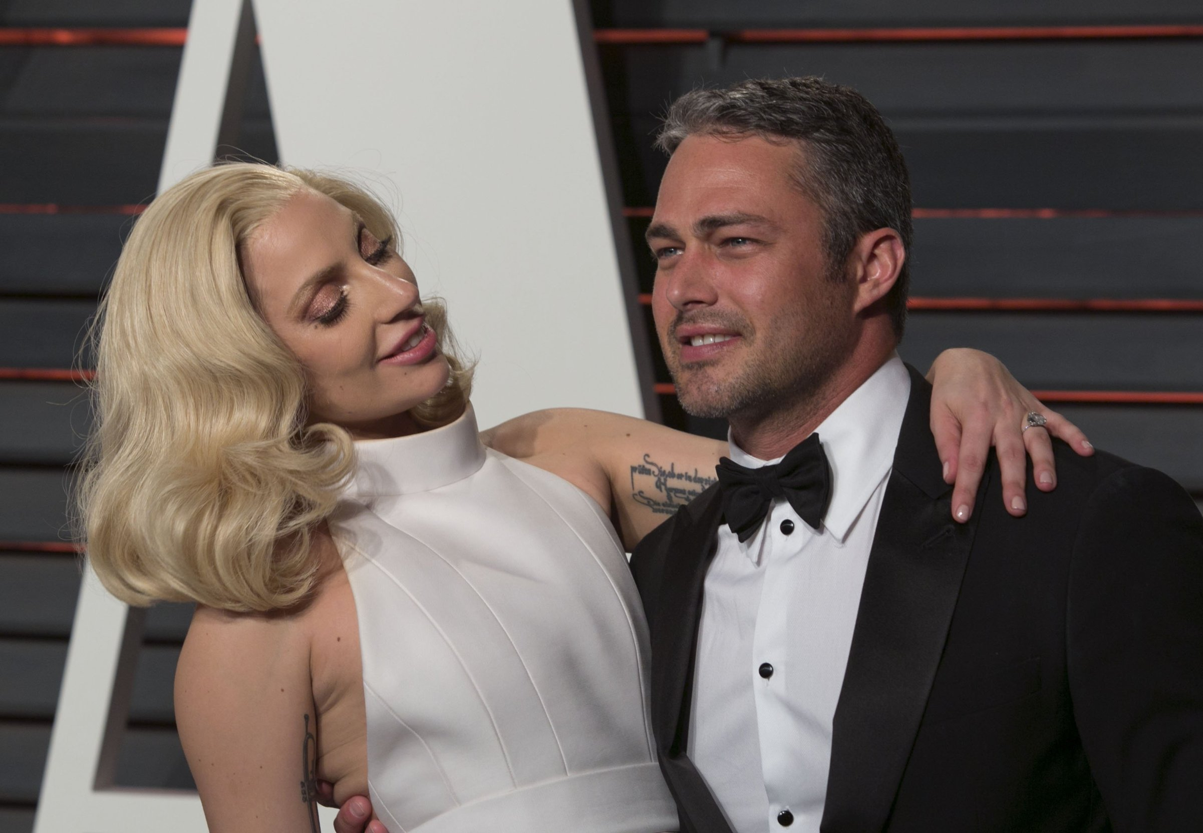 July 19, 2016 - Beverly Hills, California, U.S - Lady Gaga and Fianc�© Taylor Kinney have reportedly broken up after five years, Tuesday July 19, 2016. FILE PHOTO: Lady Gaga and Fianc�© Taylor Kinney on the red carpet at the 2016 Vanity Fair Oscar Party held at the Annenberg Center in Beverly Hills, California, Sunday February 28, 2016., Image: 294596426, License: Rights-managed, Restrictions: , Model Release: no, Credit line: Profimedia, Zuma Press