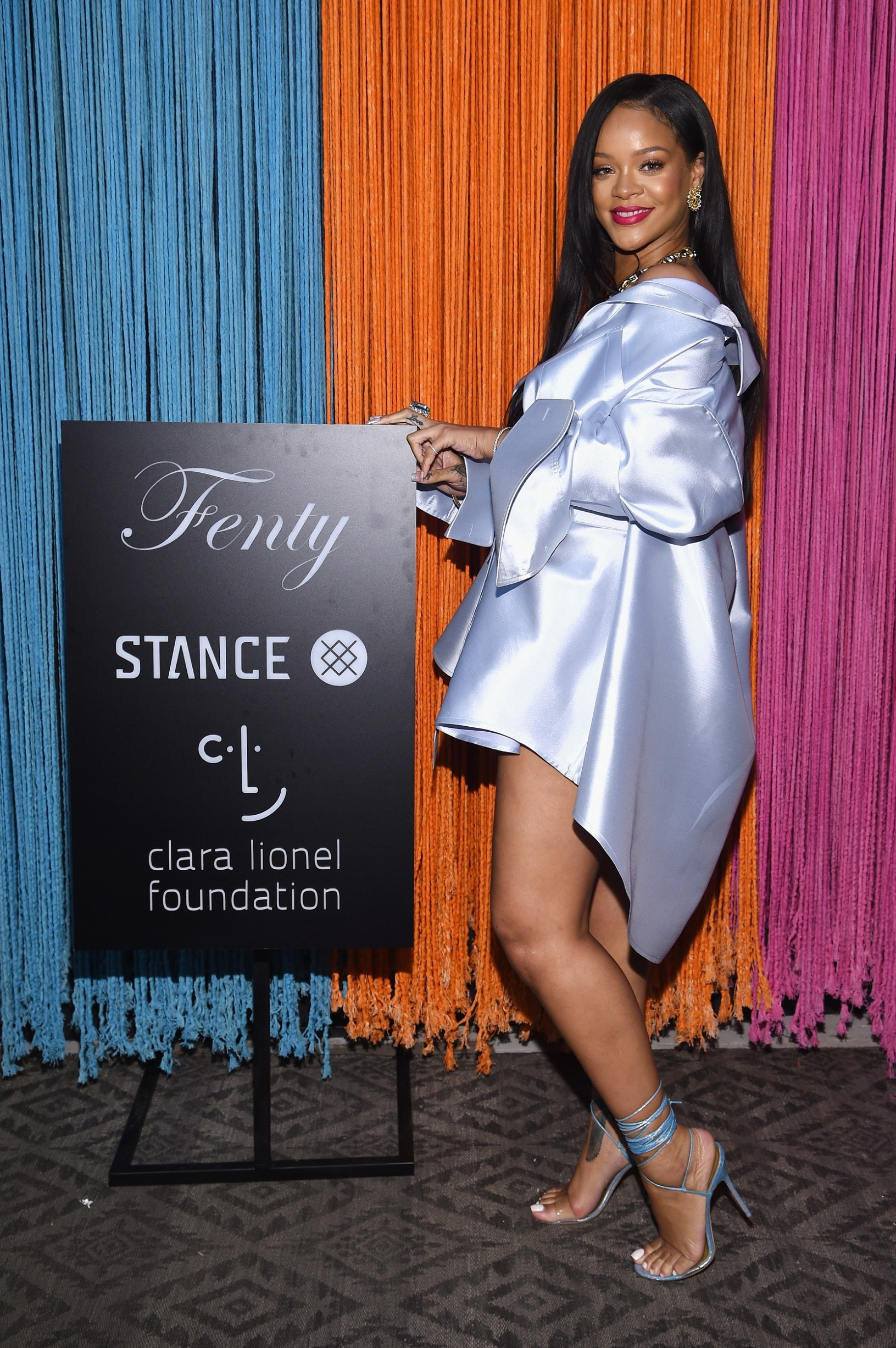 NEW YORK, NY - JUNE 06:  Rihanna makes an appearance at Stance for the Clara Lionel Foundation on June 6, 2018 in New York City.  (Photo by Dimitrios Kambouris/Getty Images for Stance)