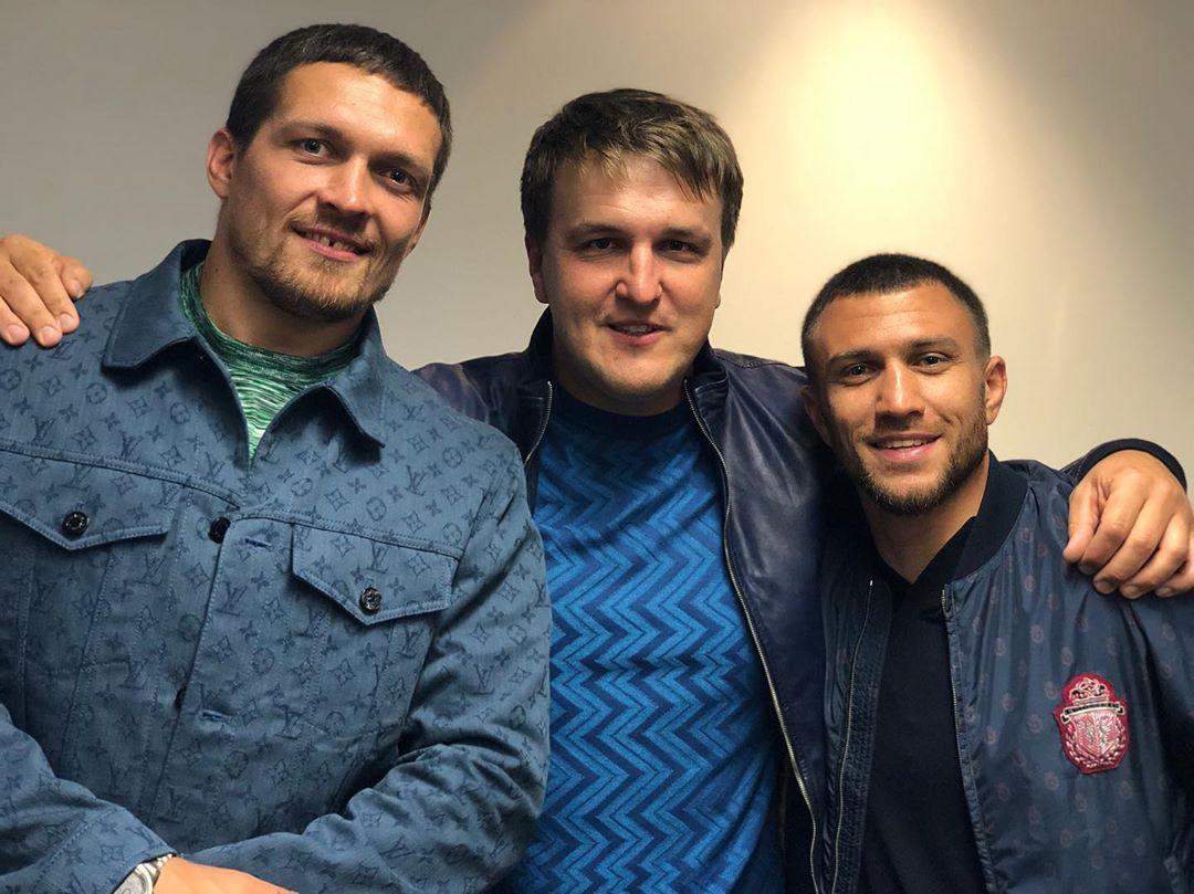 Oleksandr Usyk, Alex Krassyuk i Vasyl Lomachenko