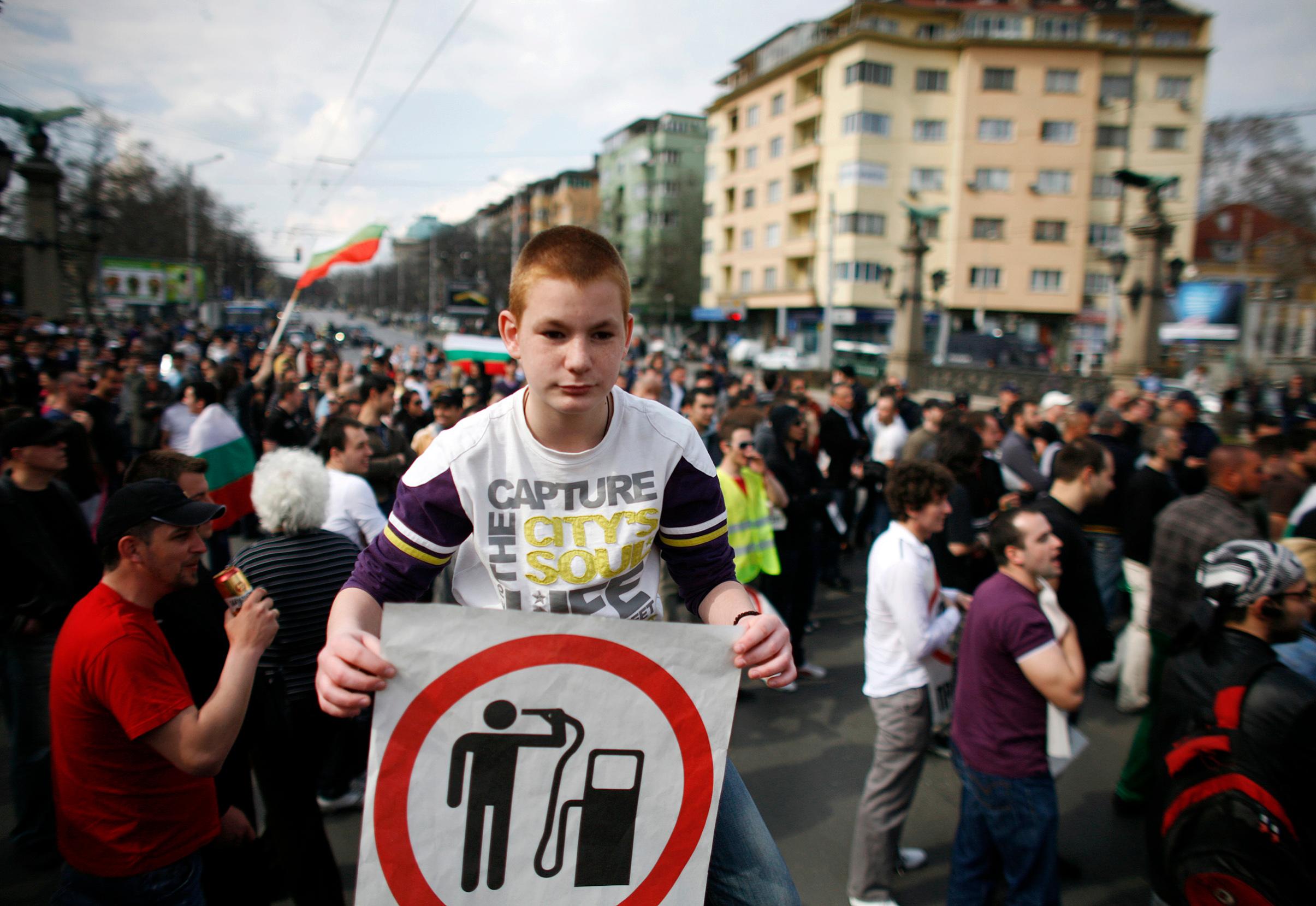 Ilustracija, prosvjednici u Sofiji