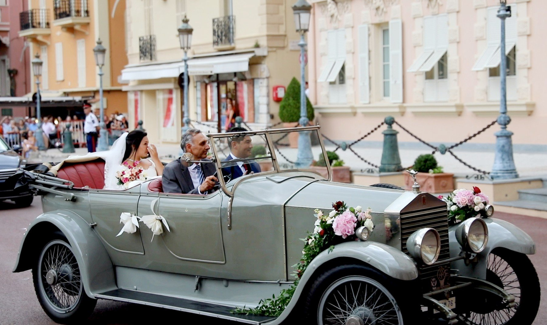 Marie Hoa Chevallier drives by car to the Cathedrale Notre-Dame-Immaculee in Monaco, on July 27, 2019, Press and public not welcome at the wedding of the son of Princess Stephanie of Monaco, Louis Ducruet and Marie Chevallier, the monegasque police had deposited all the streets that lead to the cathedral with crush barriers and police officers. 27 Jul 2019 Pictured: Marie Hoa Chevallier drives by car to the Cathedrale Notre-Dame-Immaculee in Monaco, on July 27, 2019, Press and public not welcome at the wedding of the son of Princess Stephanie of Monaco, Louis Ducruet and Marie Chevallier, the monegasque police had deposited all the streets that lead to the cathedral with crush barriers and police officers  Photo : Albert Nieboer /  Netherlands OUT / Point de Vue OUT., Image: 461140738, License: Rights-managed, Restrictions: ONLY Australia, Canada, Croatia, Denmark, Greece, Ireland, Israel, Italy, Japan, Lithuania, New Zealand, Norway, Poland, Portugal, Romania, Slovakia, Slovenia, South Africa, South Korea, Taiwan, Thailand, Turkey, Ukraine, United Arab Emirates, United Kingdom, United States, Model Release: no, Credit line: Profimedia, Mega Agency