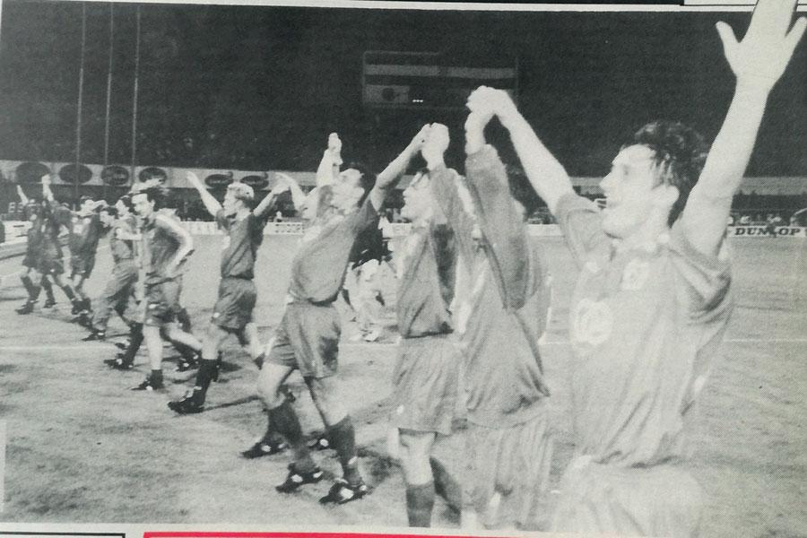 Slavlje igrača Croatije nakon dvoboja