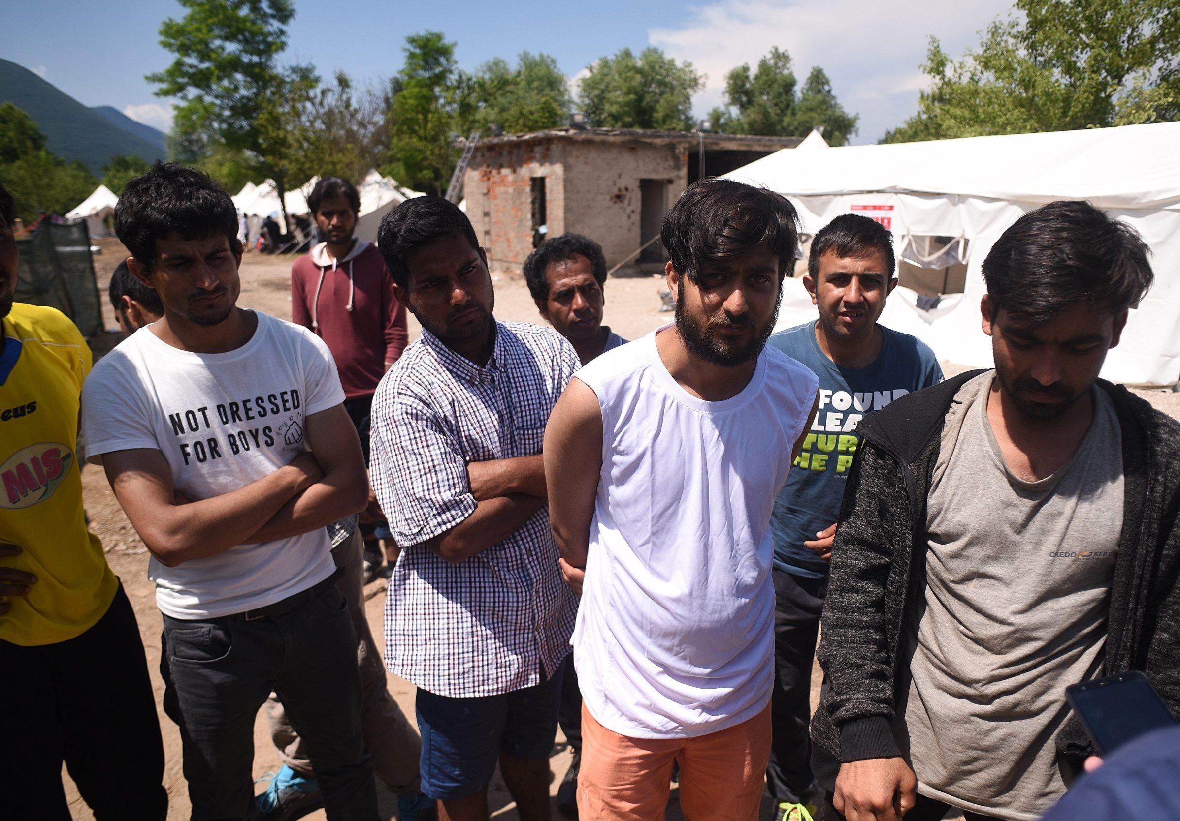 Migranti u kampu u Bihaću