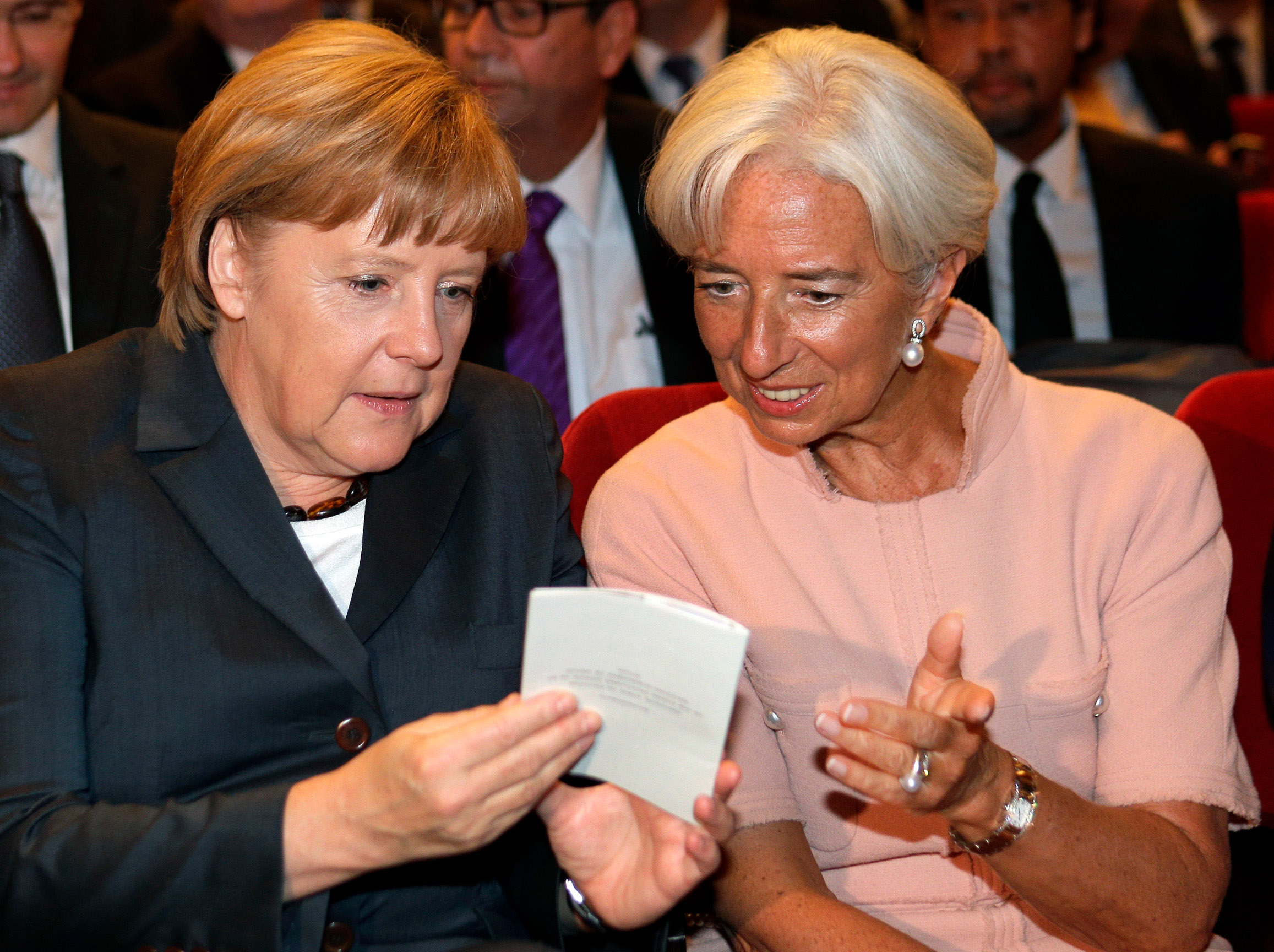 Angela Merkel i Christine Lagarde