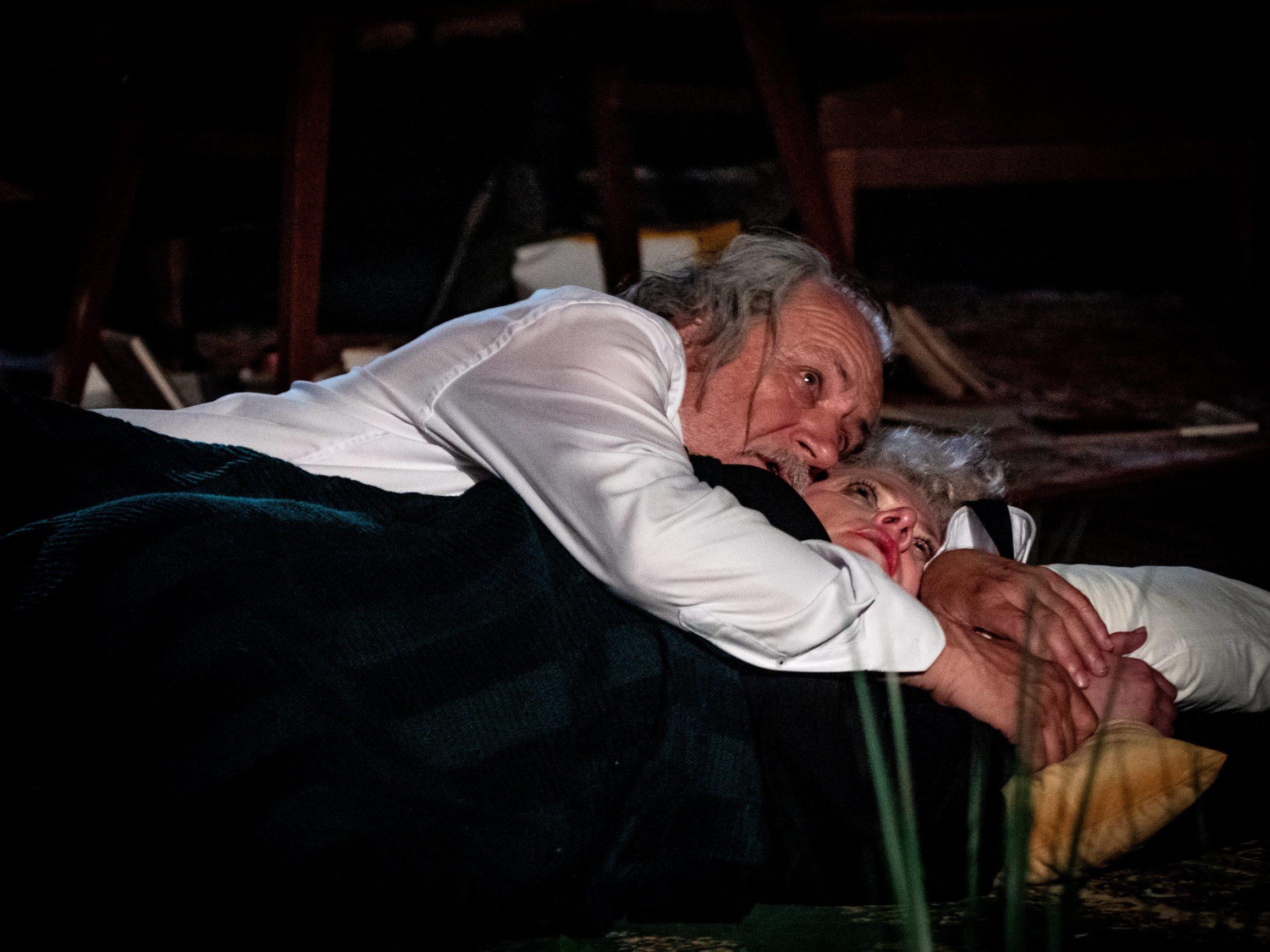 Brijuni,  290719.  Na Malom Brijunu u Tvrðavi Minor odrzana je premijera predstave Tko se boji Virginije Woolf u izvedbi kazalista Ulysses i u reziji Lenke Udovicki.  Na fotografiji: Rade Serbedzija, Katarina Bistrovic Darvas. Foto: Marijana Banko / CROPIX
