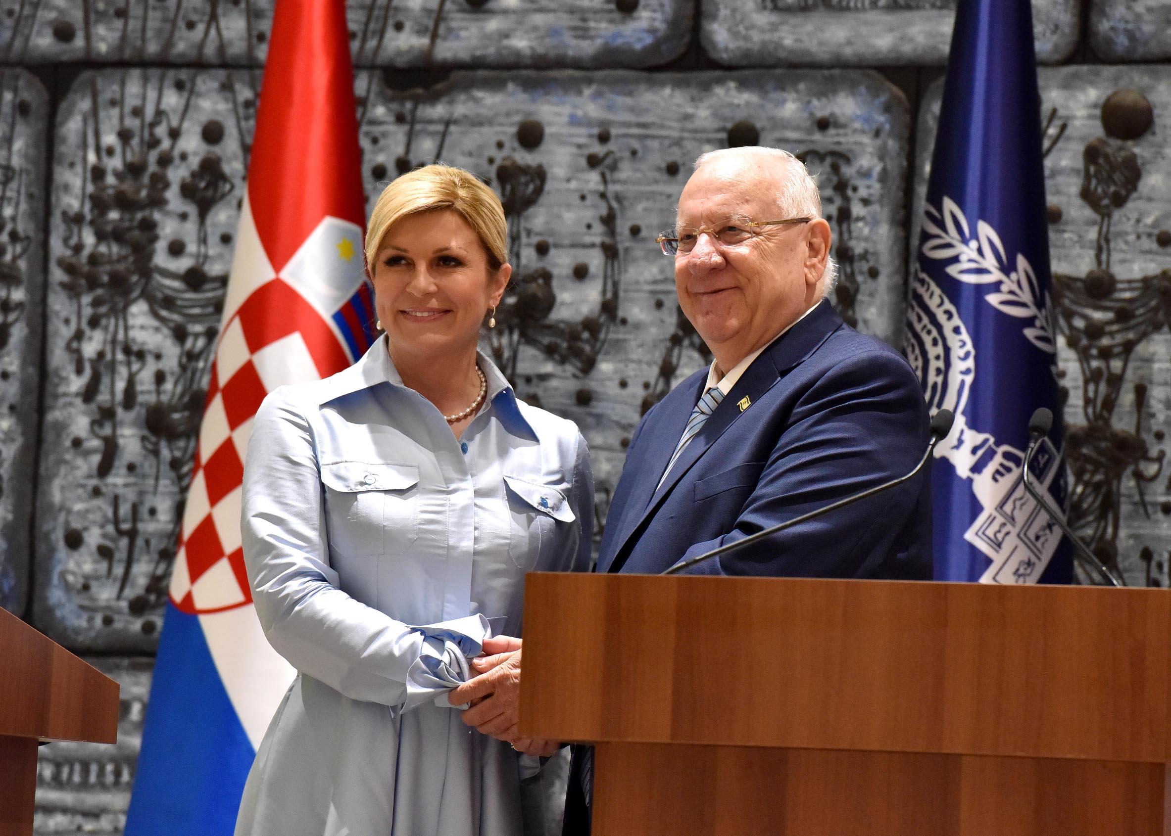 Kolinda Grabar-Kitarović i Reuven Rivlin