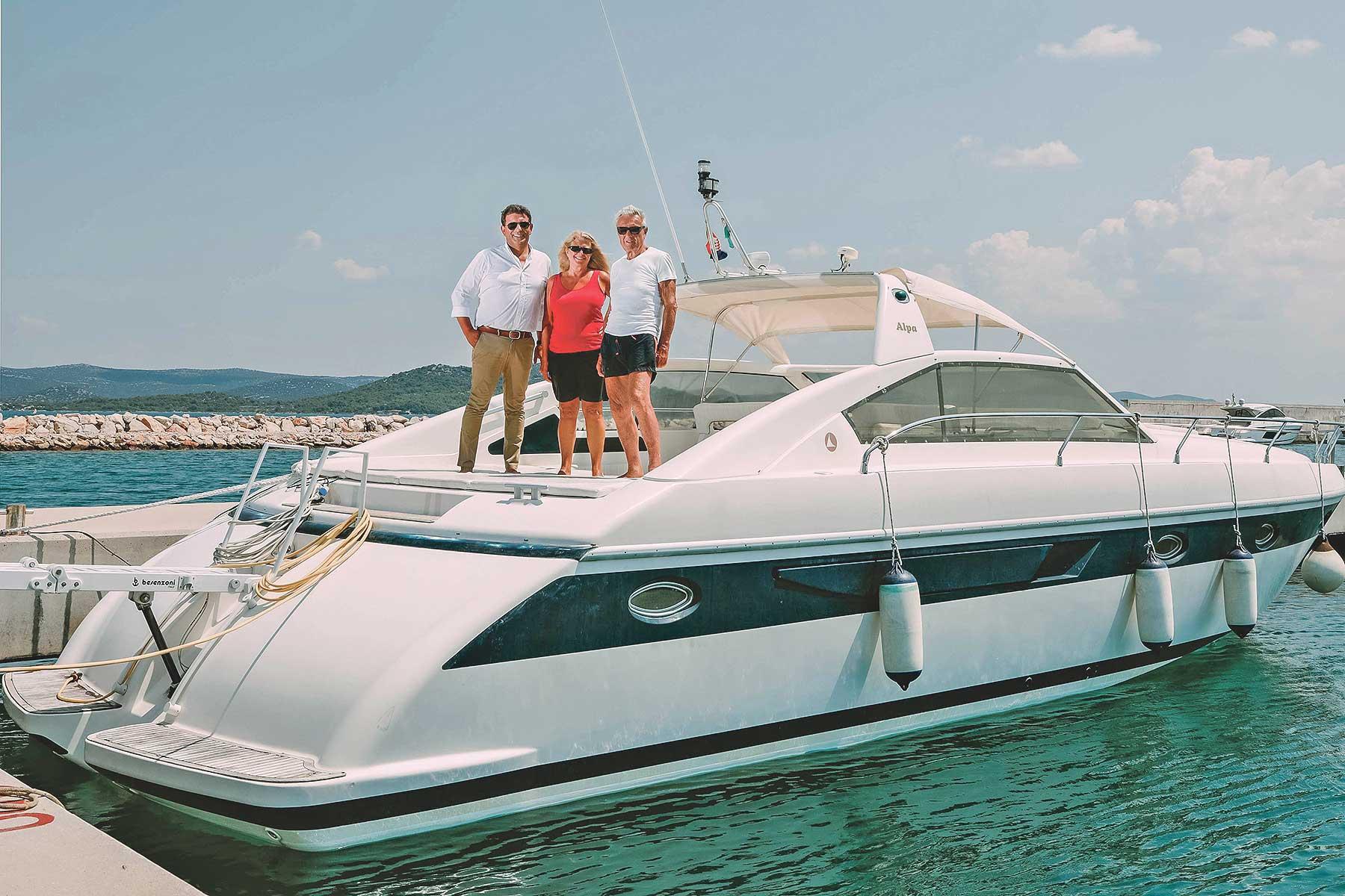 Direktor marine Betina Boris Ninić, Eleonora Magliocco i Giuseppe Badini