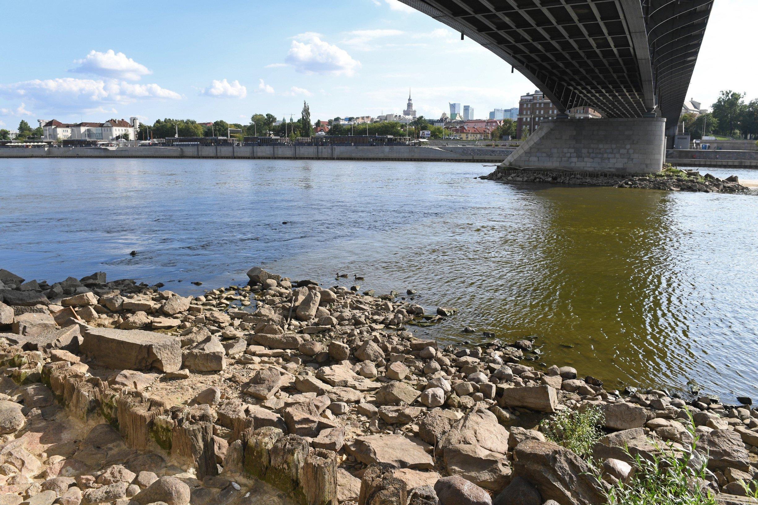 Nizak vodostaj Vistule u Varšavi