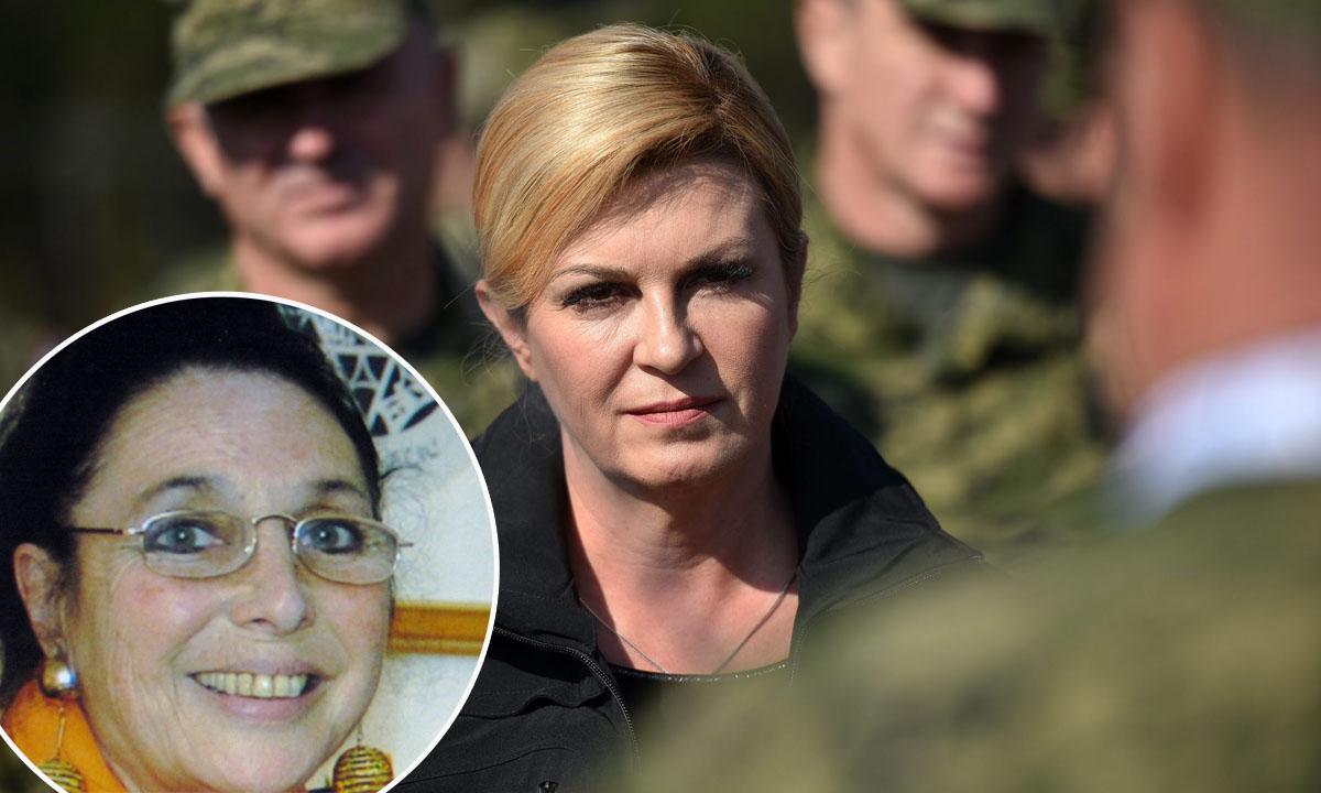 Kolinda Grabar-Kitarović, novinarka Greer Fay Cashman (u krugu)