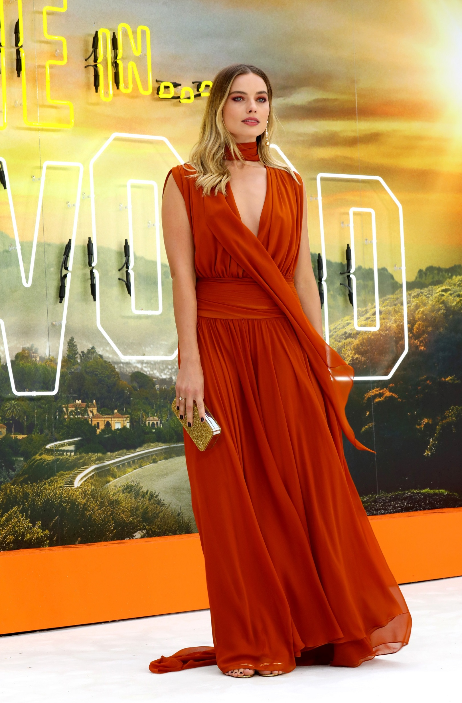 LONDON, ENGLAND - JULY 30:  Margot Robbie attends the UK Premiere of Once Upon A Time...In Hollywood at Odeon Luxe Leicester Square on July 30, 2019 in London, England. (Photo by Tim P. Whitby/Getty Images for Sony)