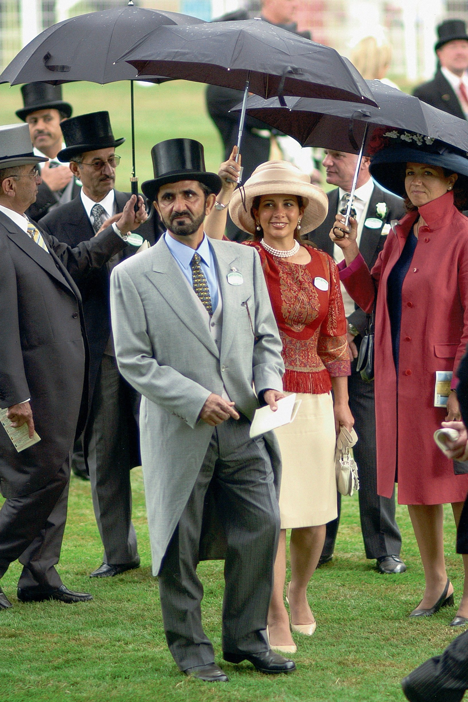 File photo - Undated photo of Dubai's ruler Sheikh Mohammed Bin Rashed Al Maktoum and his wife, Jordan's Princess Haya Bint Al Hussein, who is also president of the FEI (Federation Equestre Internationale). The two royals, who married in 2004 will have at the end of the year their first baby. The younger wife of the ruler of Dubai, the billionaire race horse owner Sheikh Mohammed bin Rashid al-Maktoum, is believed to be staying in a town house near Kensington Palace after fleeing her marriage. Princess Haya bint al-Hussein, 45, has not been seen in public for weeks. One half of one of the sporting worlds most celebrated couples, she failed to appear at Royal Ascot last month with her husband., Image: 453480117, License: Rights-managed, Restrictions: , Model Release: no, Credit line: Profimedia, Abaca Press