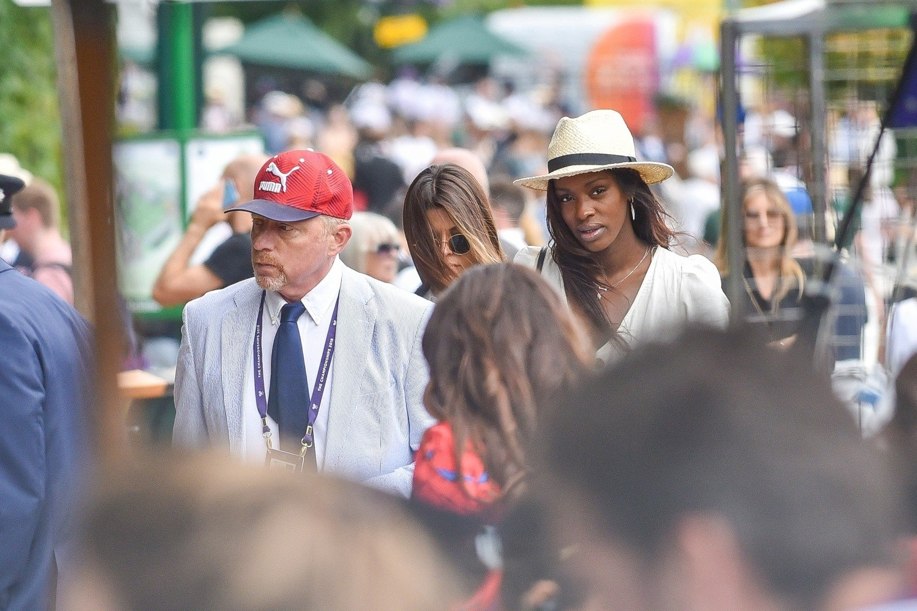 London, UNITED KINGDOM  - Boris Becker meets with rumoured girlfriend Layla Powell inside The Championships at Wimbledon.  BACKGRID UK 3 JULY 2019, Image: 453790359, License: Rights-managed, Restrictions: , Model Release: no, Credit line: Profimedia, Backgrid UK