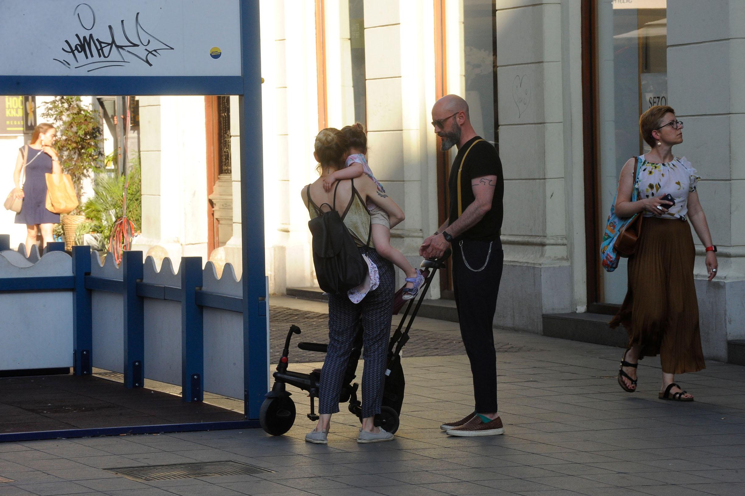 Spica / Zagreb 28.06.2019. / foto: Davor Matota / Aljosa Seric i Antonia Matkovic Seric i kcer Luna