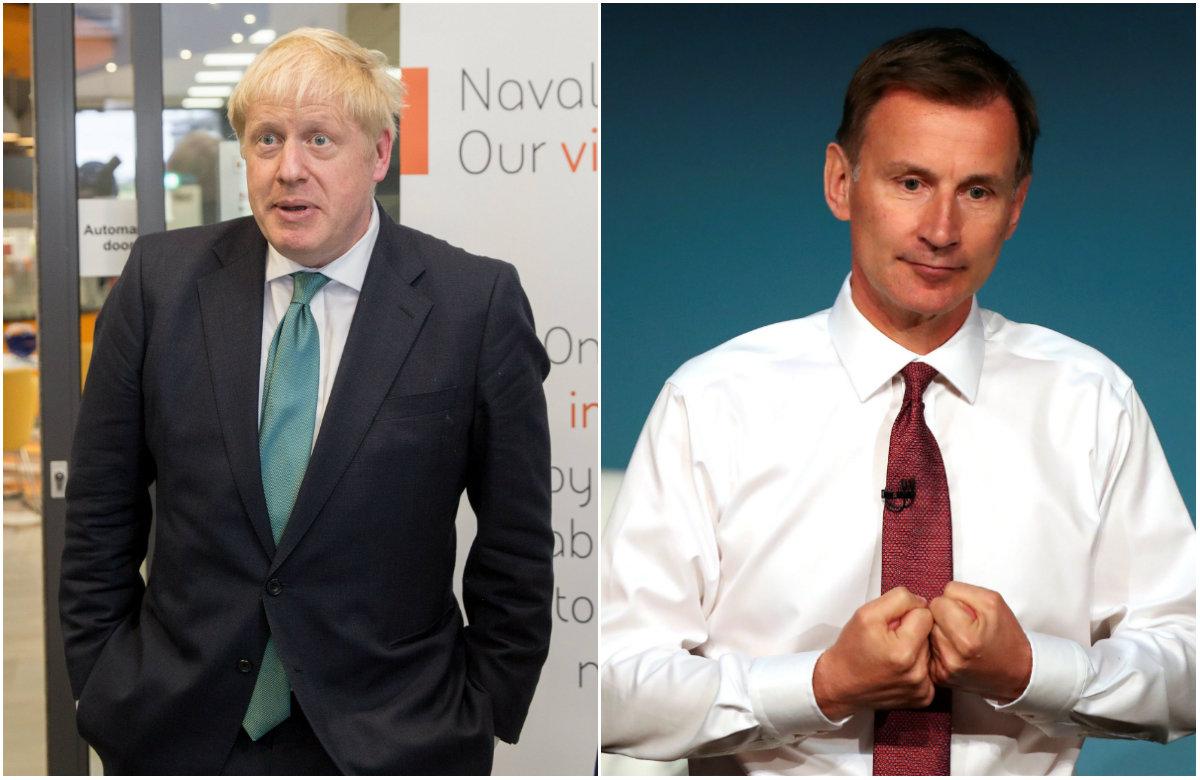 Boris Johnson, Jeremy Hunt