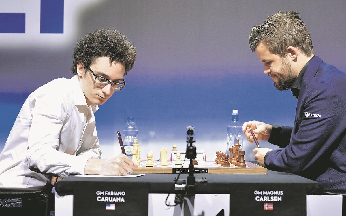 Fabiano Caruana, Magnus Carlsen.