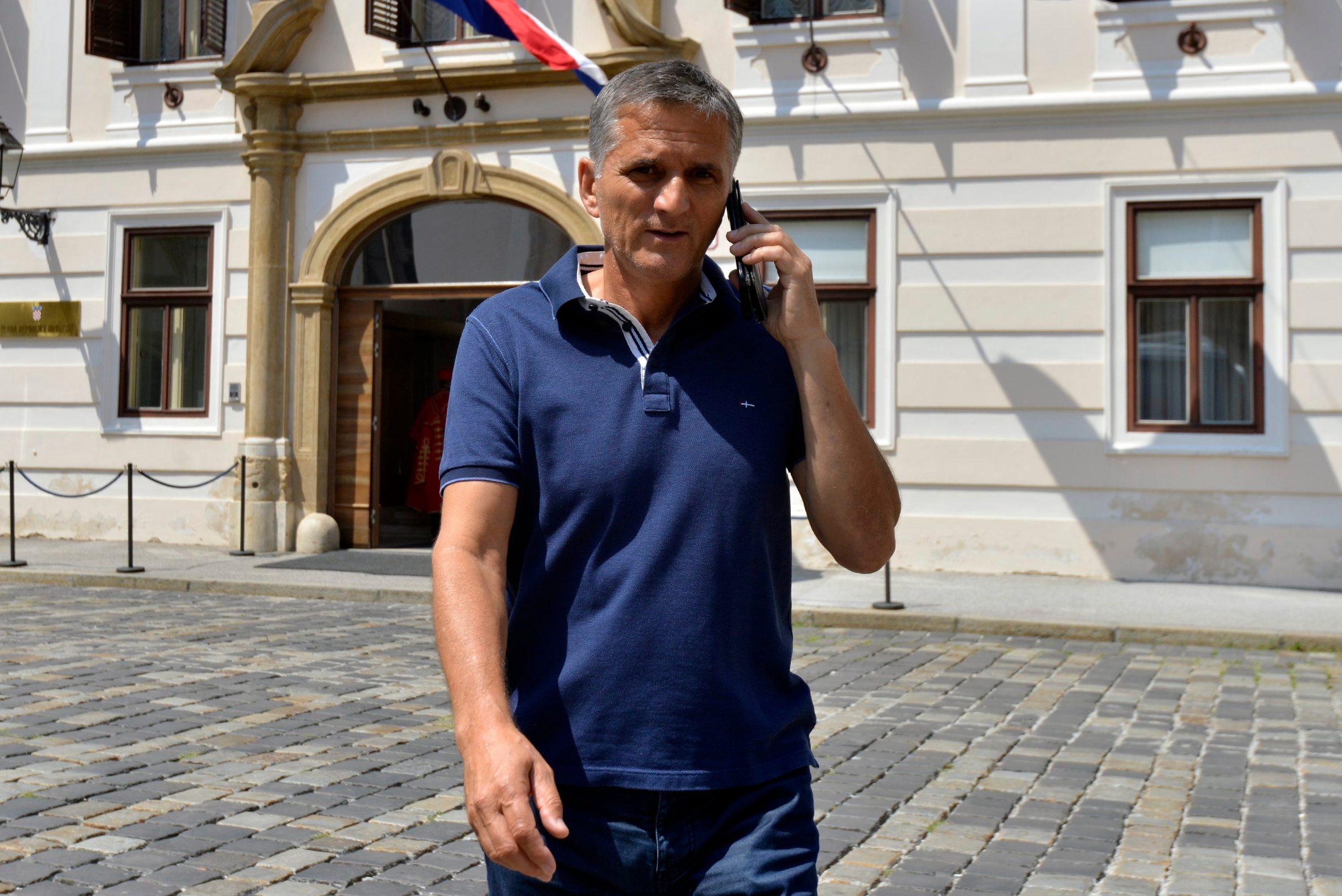 Goran Marić na izlasku iz Banskih dvora nakon sastanka s premijerom Plenkovićem