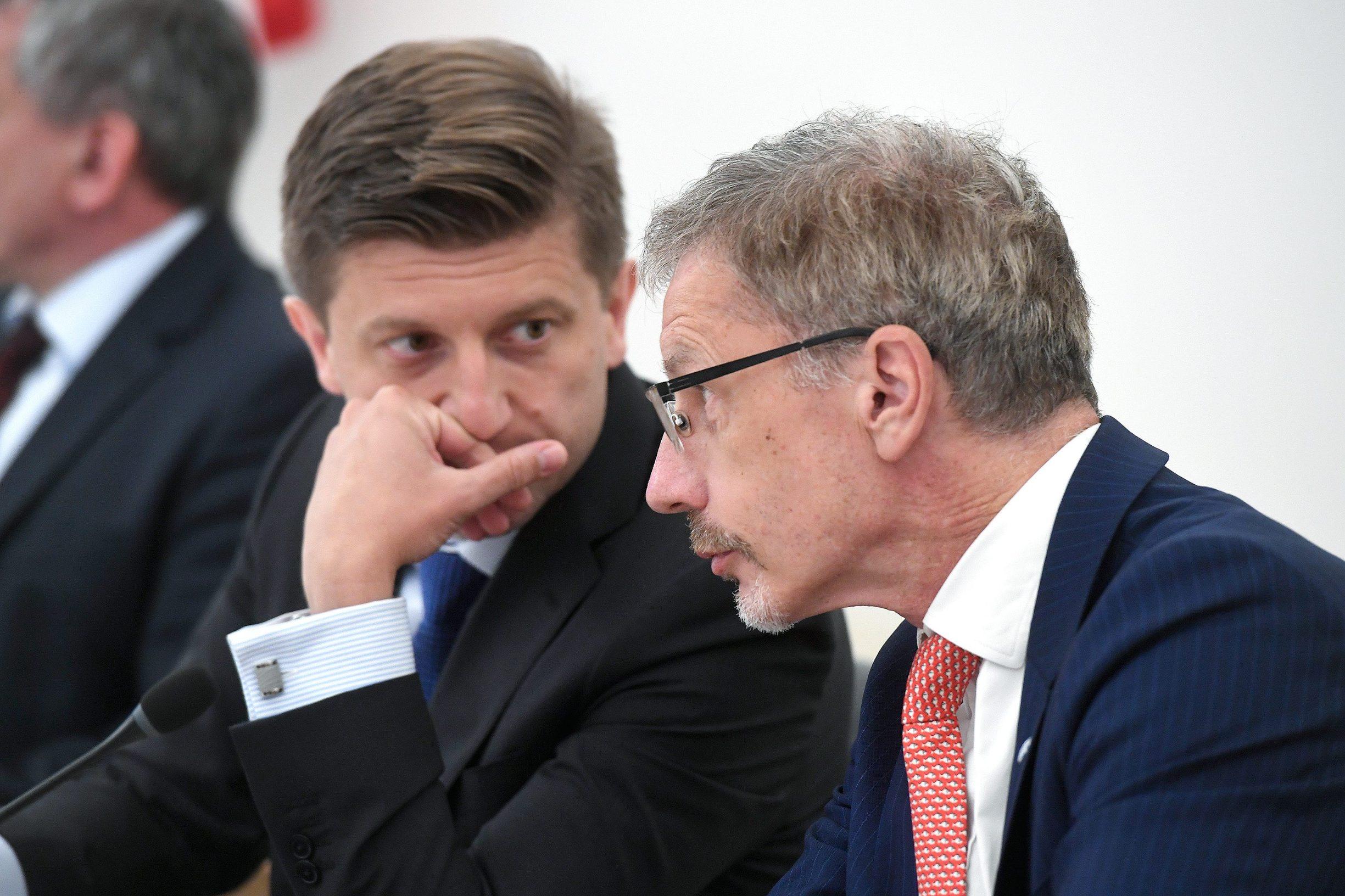 Ministar financija Zdravko Marić i guverner HNB-a Boris Vujčić