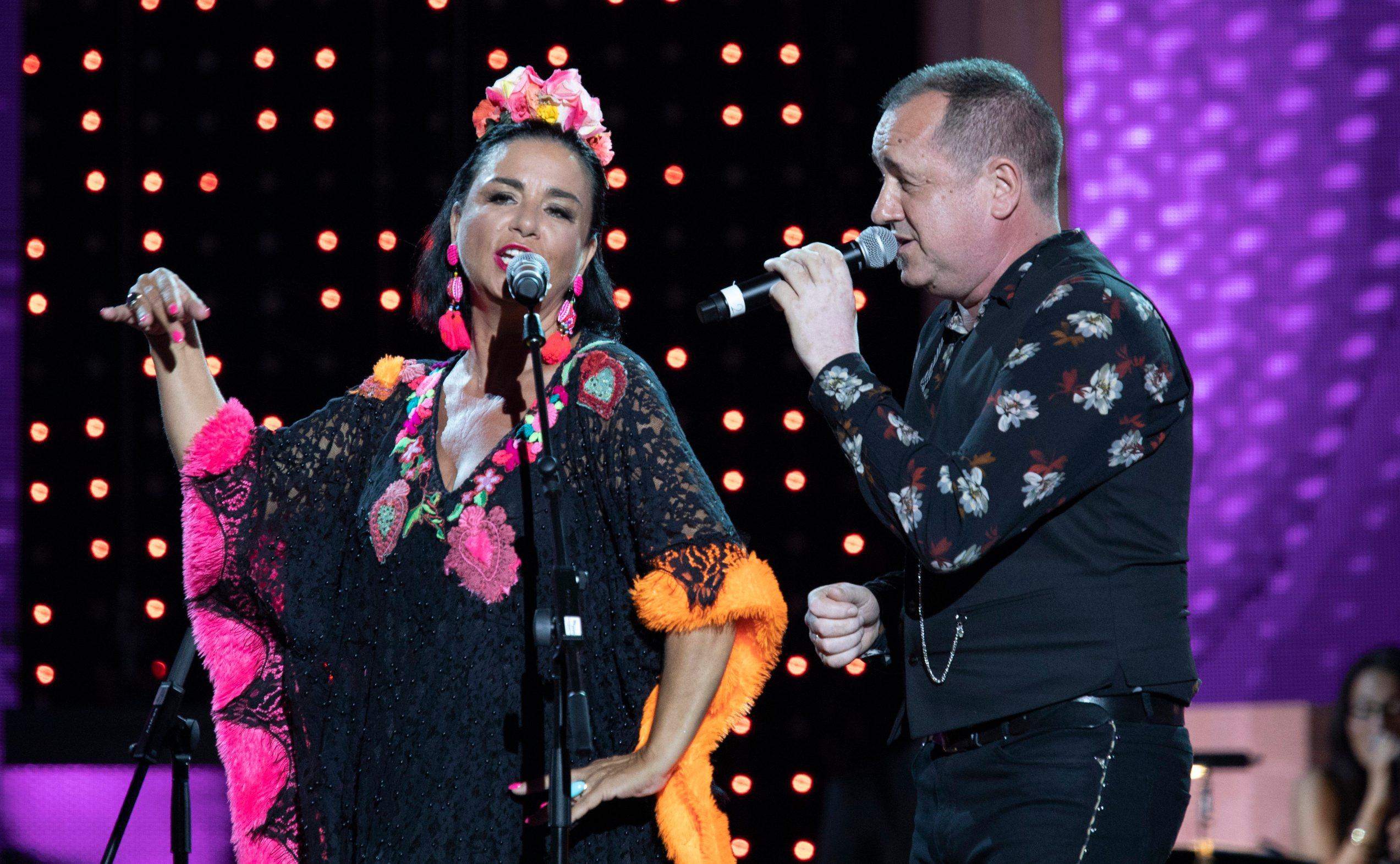 Split, 060719. Splitski festival, finalna vecer novih pjesama. Na fotografiji: Alka i Neno Belan Foto: Bozidar Vukicevic / CROPIX