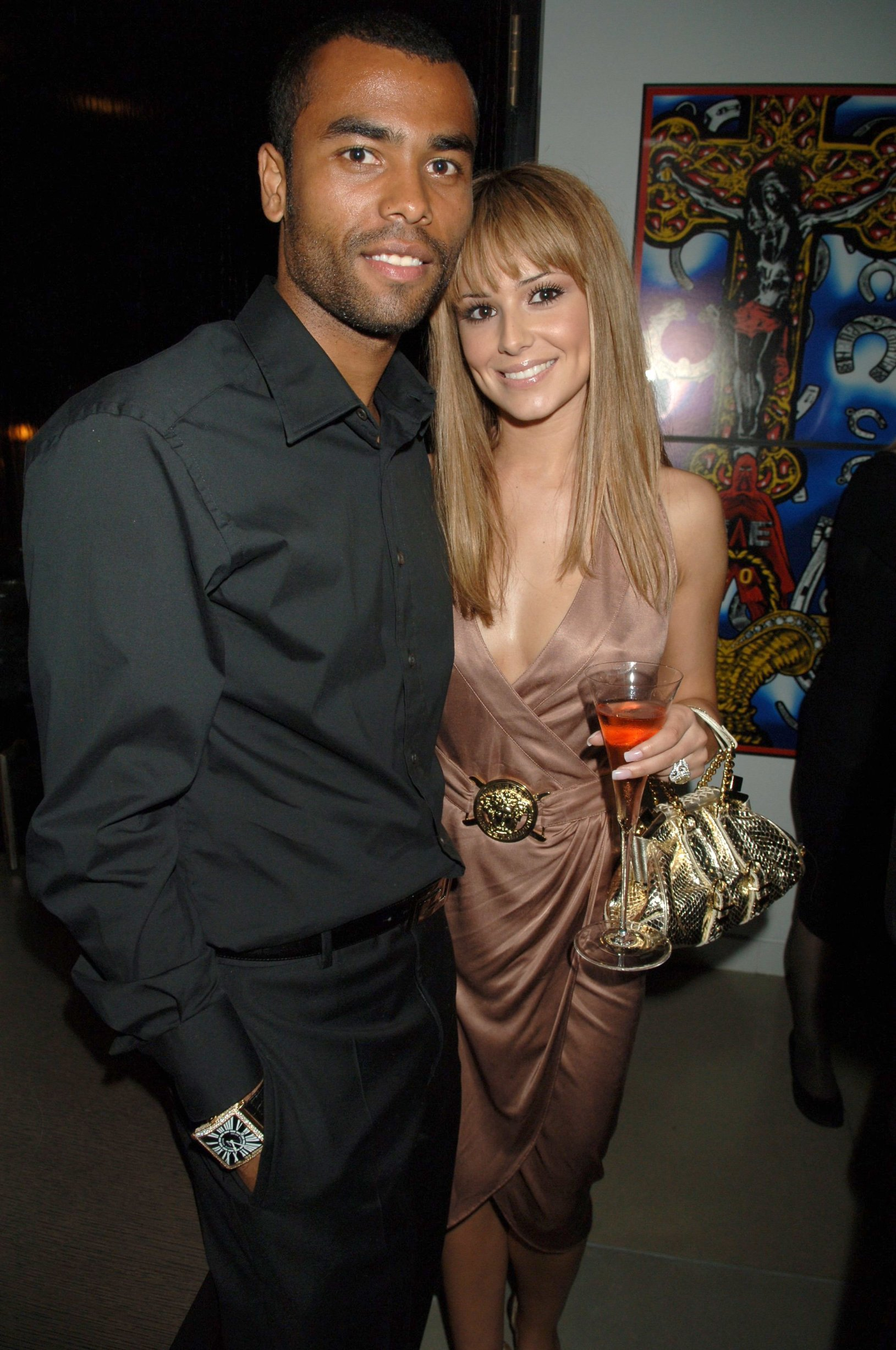 Ashley Cole and Cheryl Tweedy Donatella Versace dinner party, hosted by David Furnish and Liz Hurley at David Furnish's House, London, Britain - 07 Sep 2006, Image: 224815324, License: Rights-managed, Restrictions: , Model Release: no, Credit line: Profimedia, TEMP Shutterstock Editorial