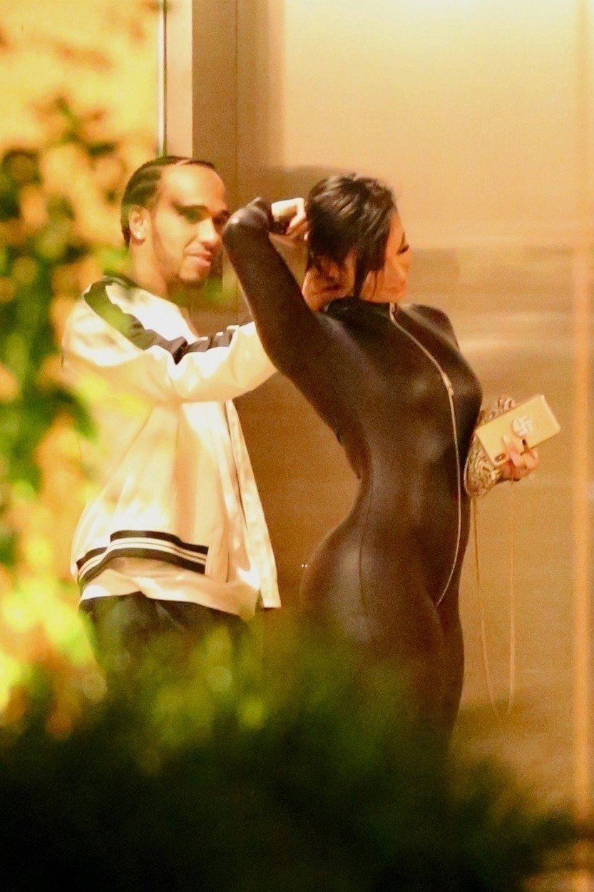 Los Angeles, CA  - *EXCLUSIVE*  - Lewis Hamilton and Zahra Elise spend a romantic night together after leaving Kevin Hart's Birthday Party. Lewis was seen working his charm and flirting with Zahra by playing with her hair.  *UK Clients - Pictures Containing Children Please Pixelate Face Prior To Publication*, Image: 455256081, License: Rights-managed, Restrictions: , Model Release: no, Credit line: Profimedia, Backgrid USA