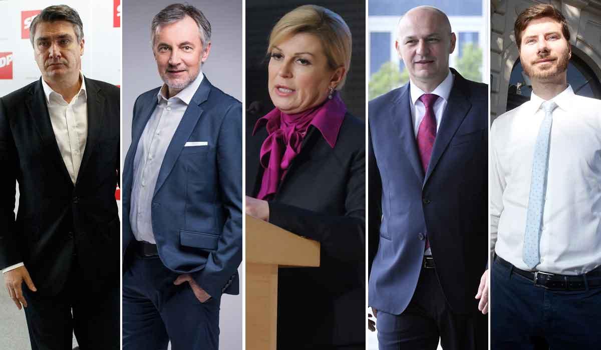 Zoran Milanović, Miroslav Škoro, Kolinda Grabar-Kitarović, Mislav Kolakušić, Ivan Pernar