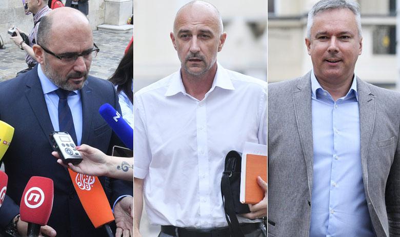 Milijan Brkić, Ivan Vrdoljak i Darinko Kosor dolaze na sastanak