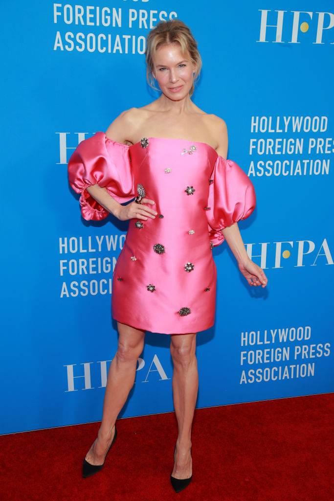 BEVERLY HILLS, CALIFORNIA - JULY 31: Renée Zellweger attends the Hollywood Foreign Press Association's Annual Grants Banquet at Regent Beverly Wilshire Hotel on July 31, 2019 in Beverly Hills, California. (Photo by Rich Fury/Getty Images)